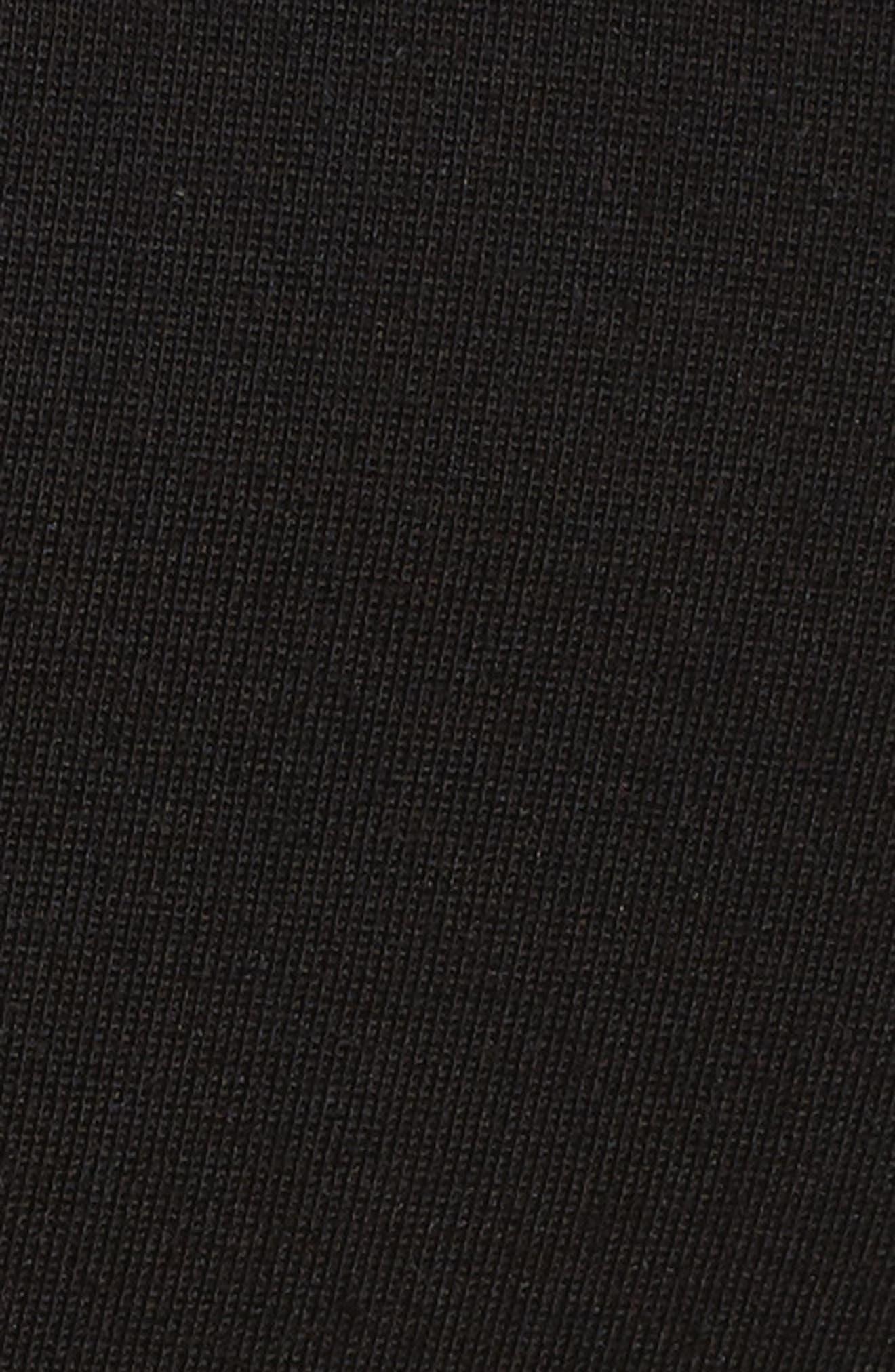 Ponte Knit Stirrup Pants,                             Alternate thumbnail 5, color,                             Black