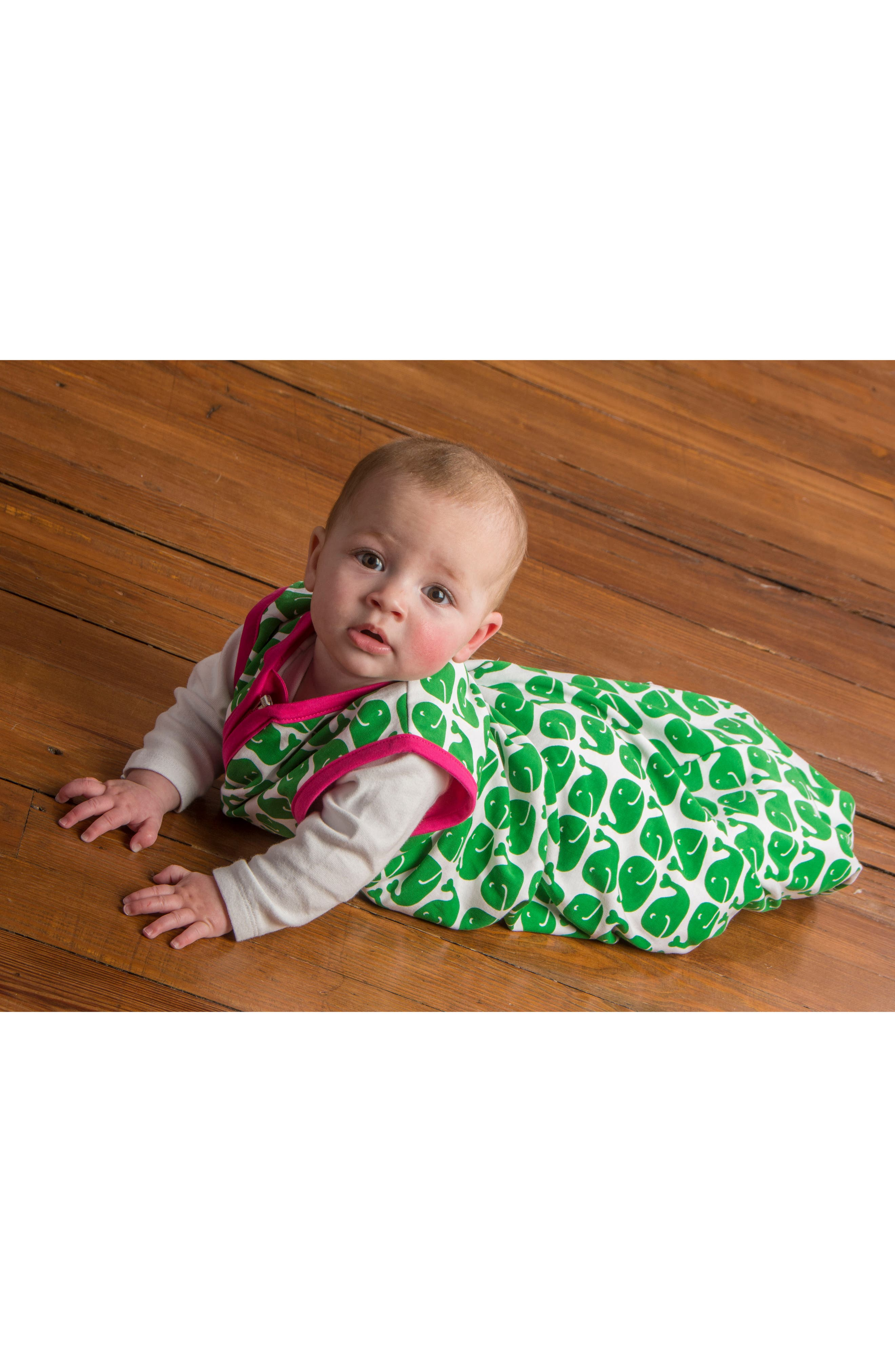 Whales Organic Cotton Wearable Blanket,                             Alternate thumbnail 3, color,                             Whale Print