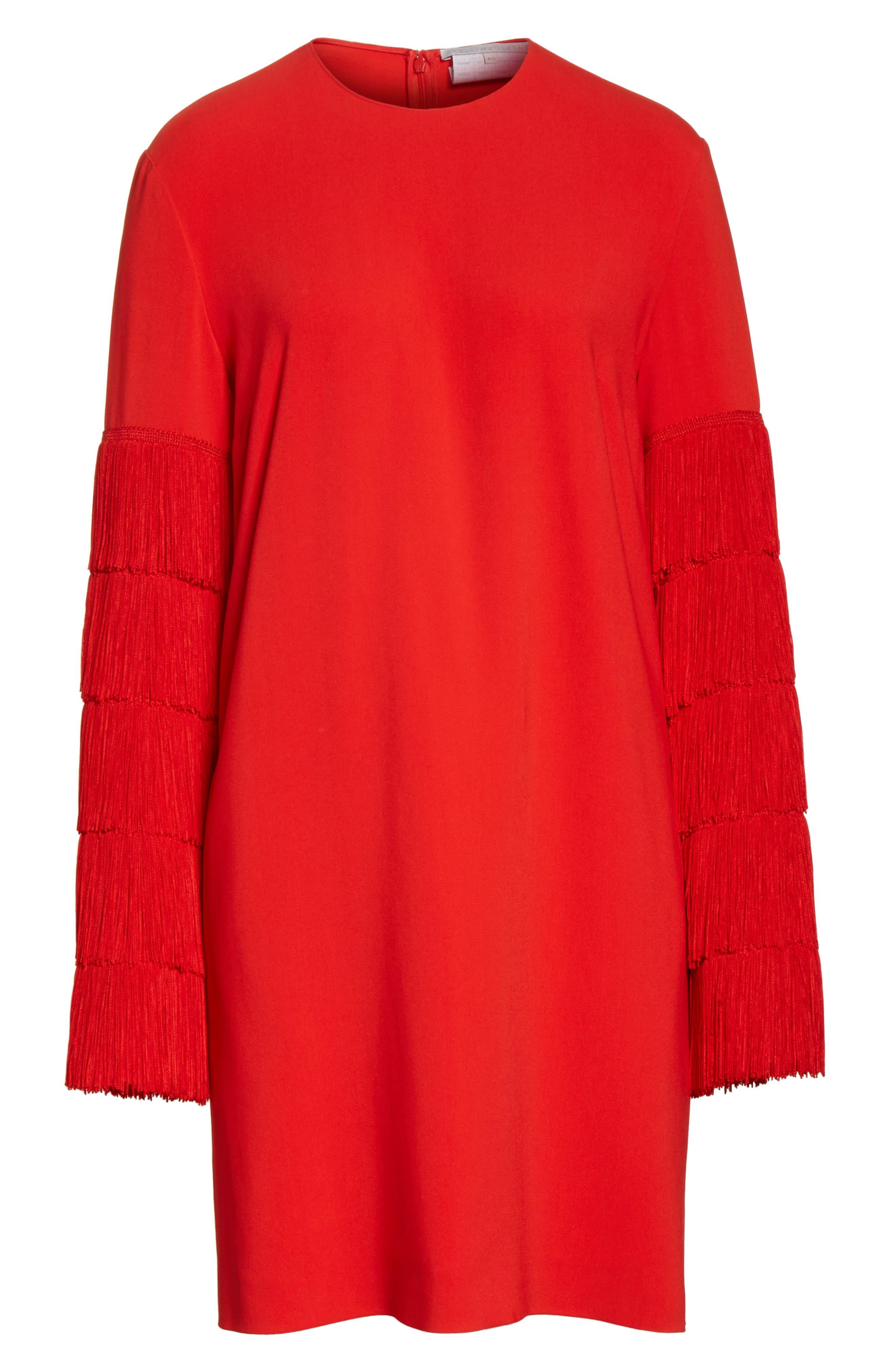 Alternate Image 8  - Stella McCartney Fringe Sleeve Stretch Cady Dress