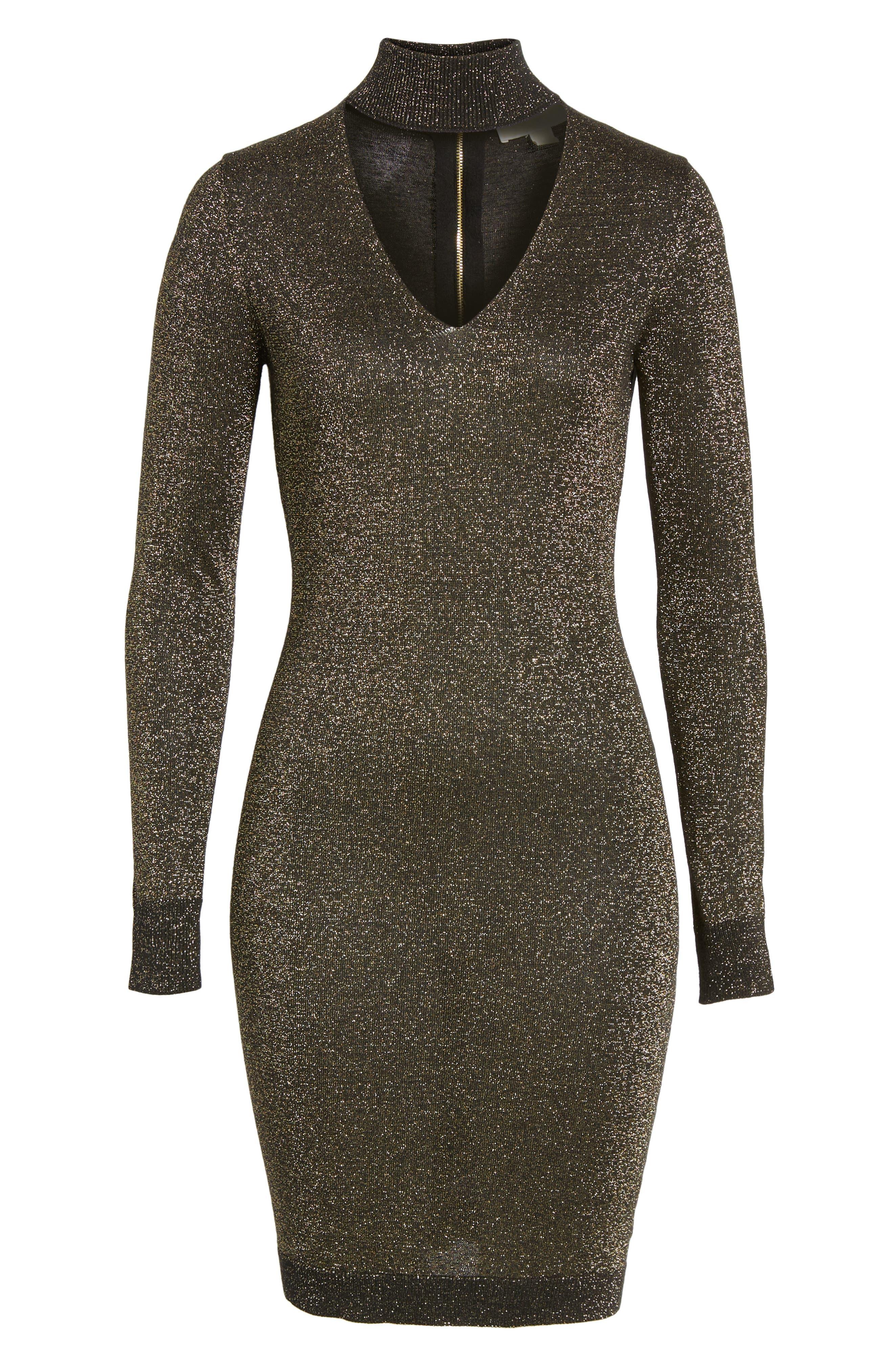 Alternate Image 6  - MICHAEL Michael Kors Choker Sweater Dress