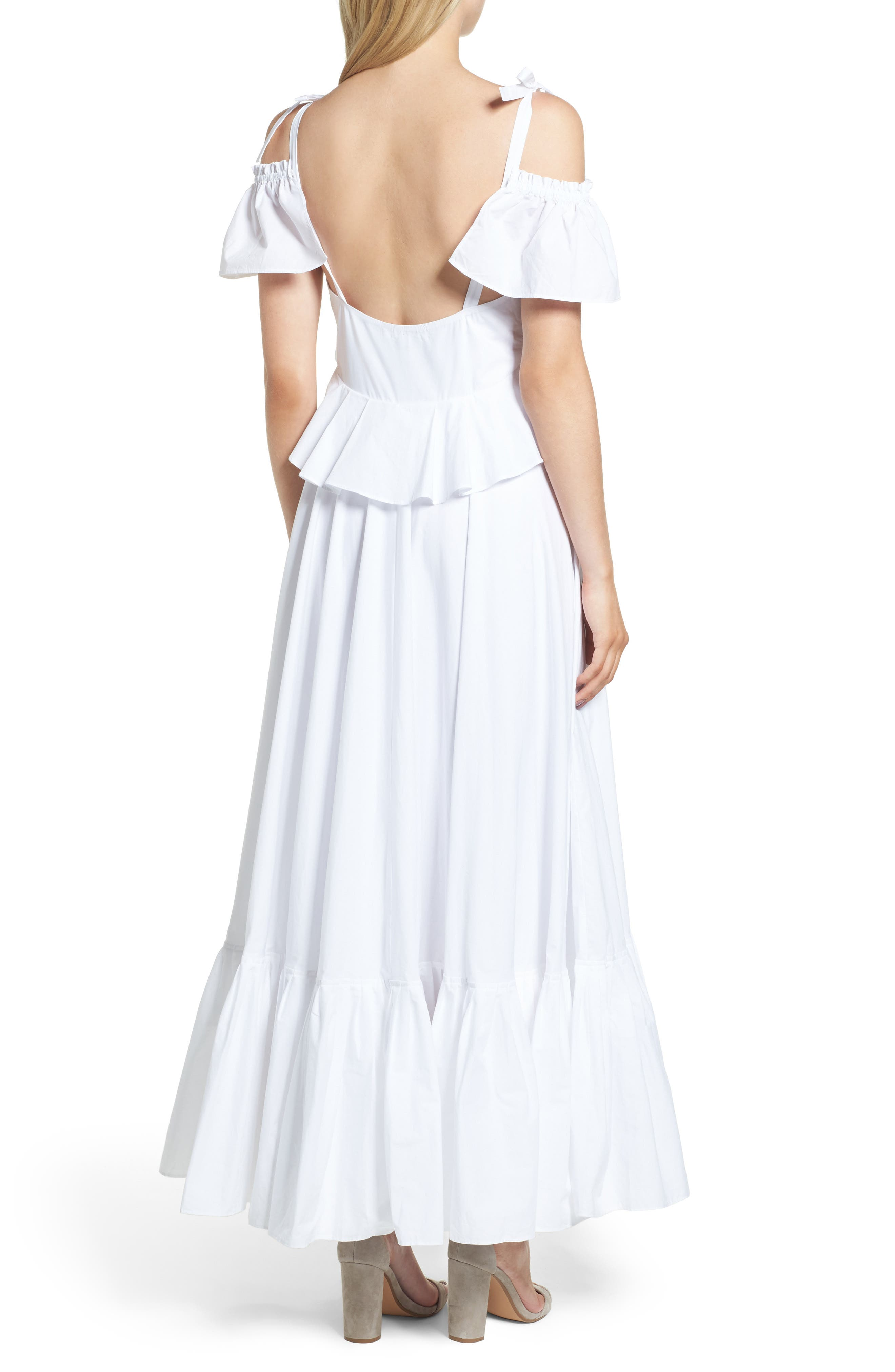 Lake Como Maxi Dress,                             Alternate thumbnail 2, color,                             White