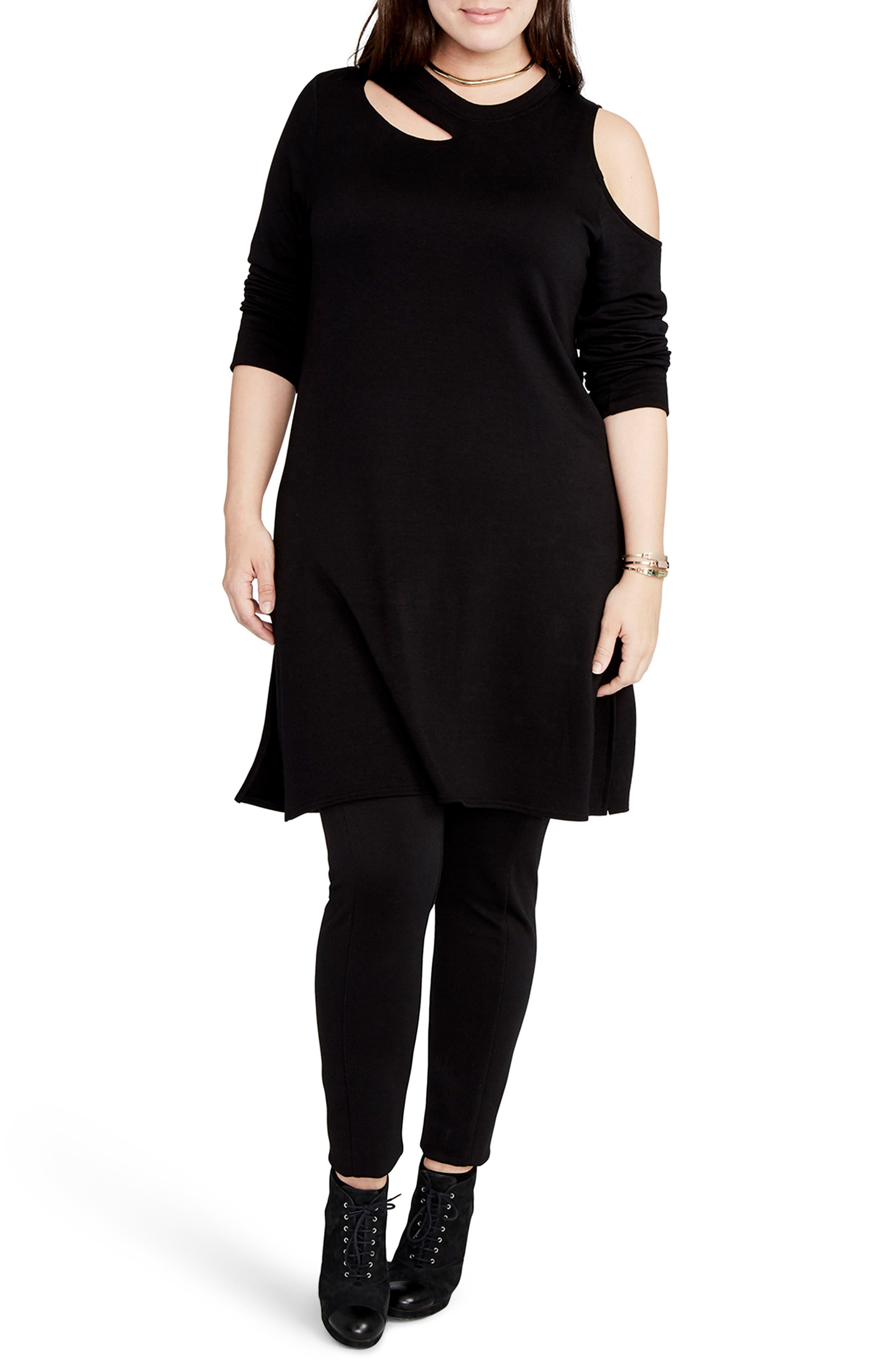 RACHEL Rachel Roy Cold Shoulder Tunic (Plus Size)