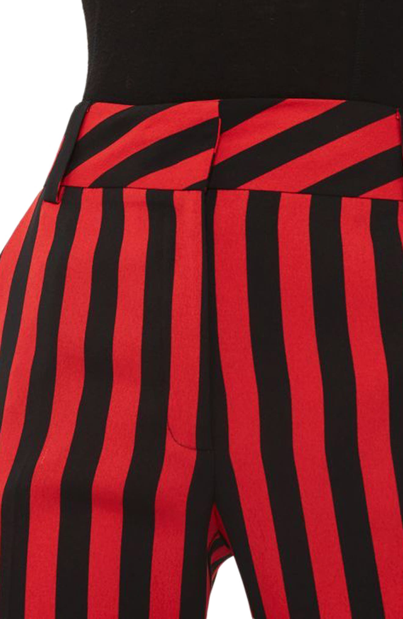 Humbug Stripe Trousers,                             Alternate thumbnail 4, color,                             Red Multi