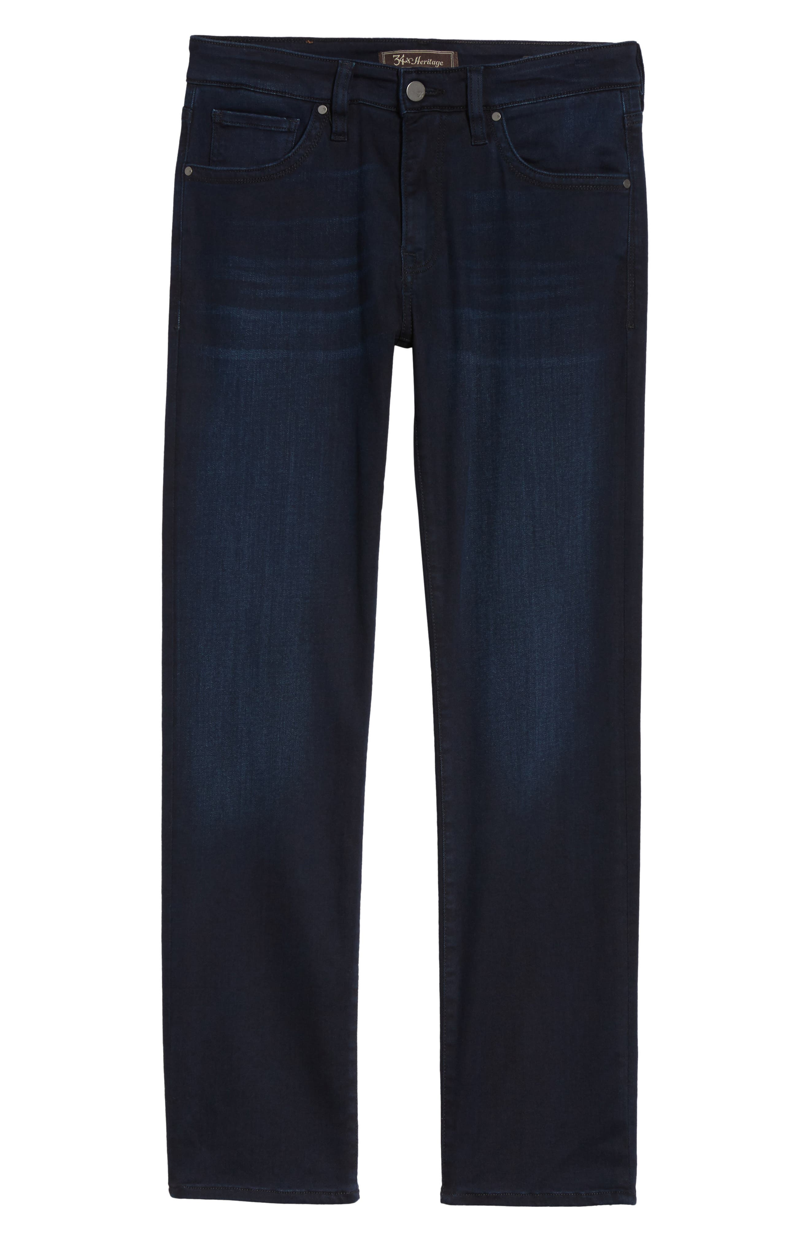 Courage Straight Fit Jeans,                             Alternate thumbnail 6, color,                             Ink Rome
