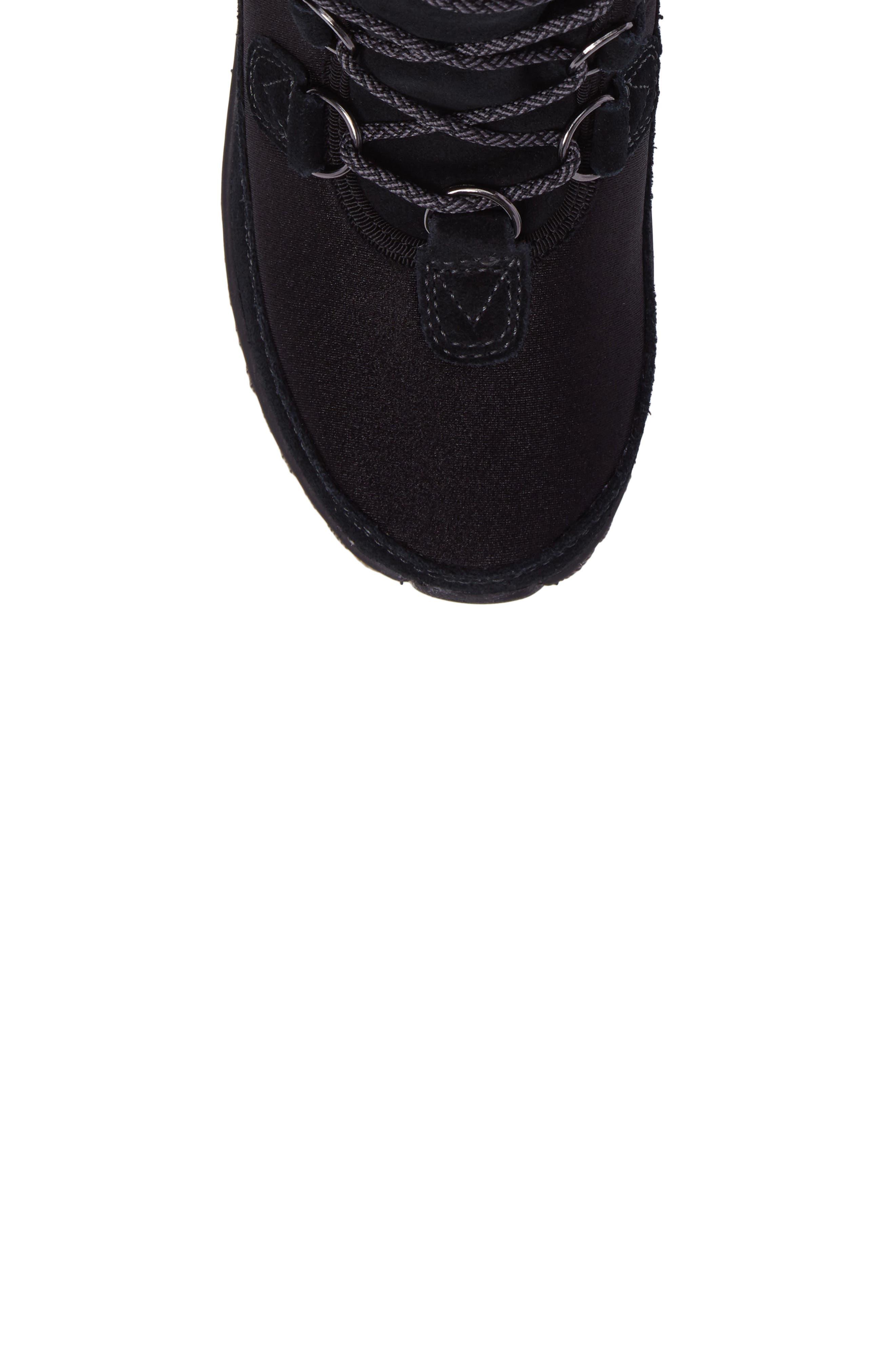 Berries Water Resistant Boot,                             Alternate thumbnail 5, color,                             Blackberry Suede