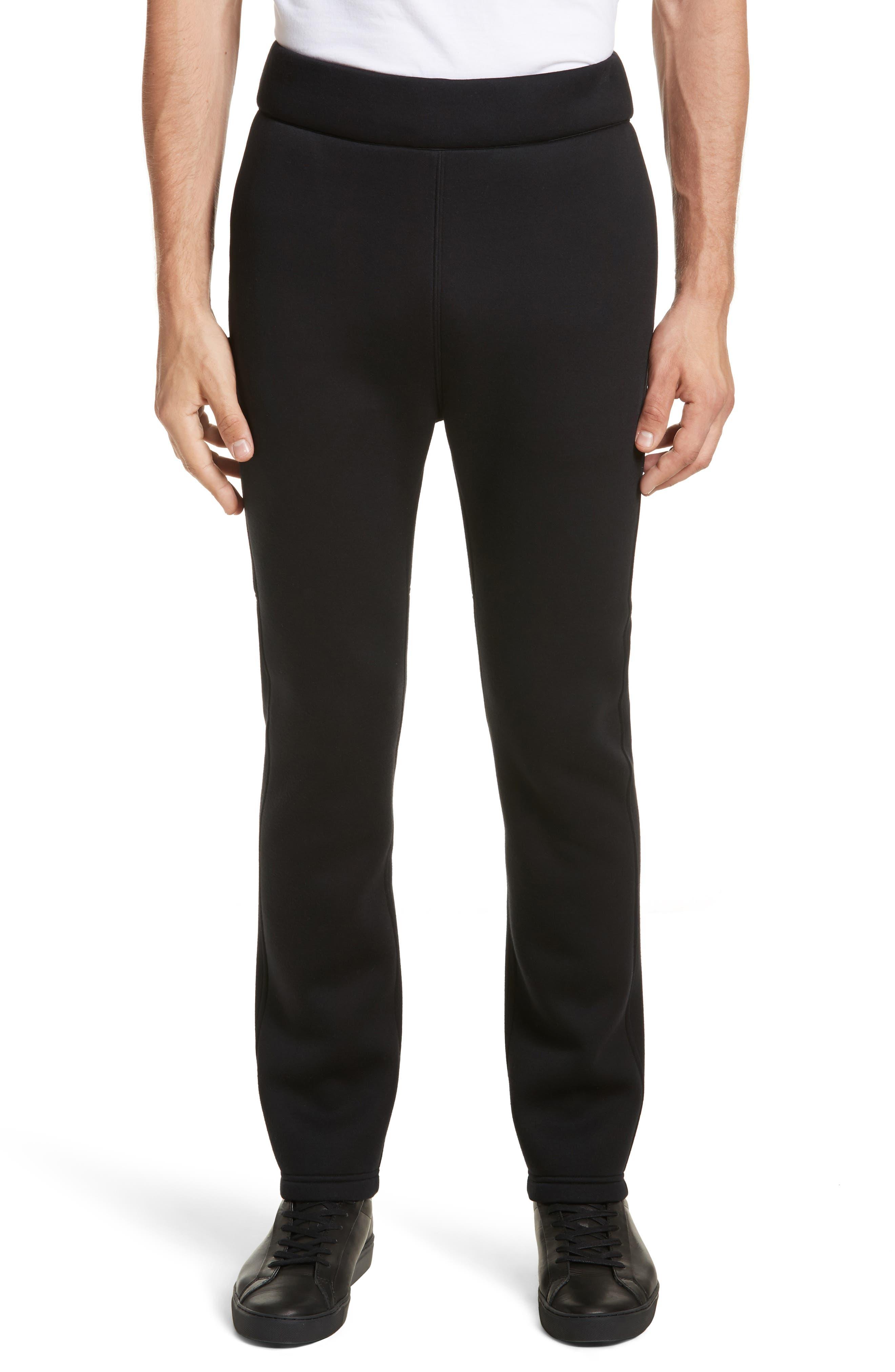 Straight Leg Jogger Pants,                             Main thumbnail 1, color,                             Black