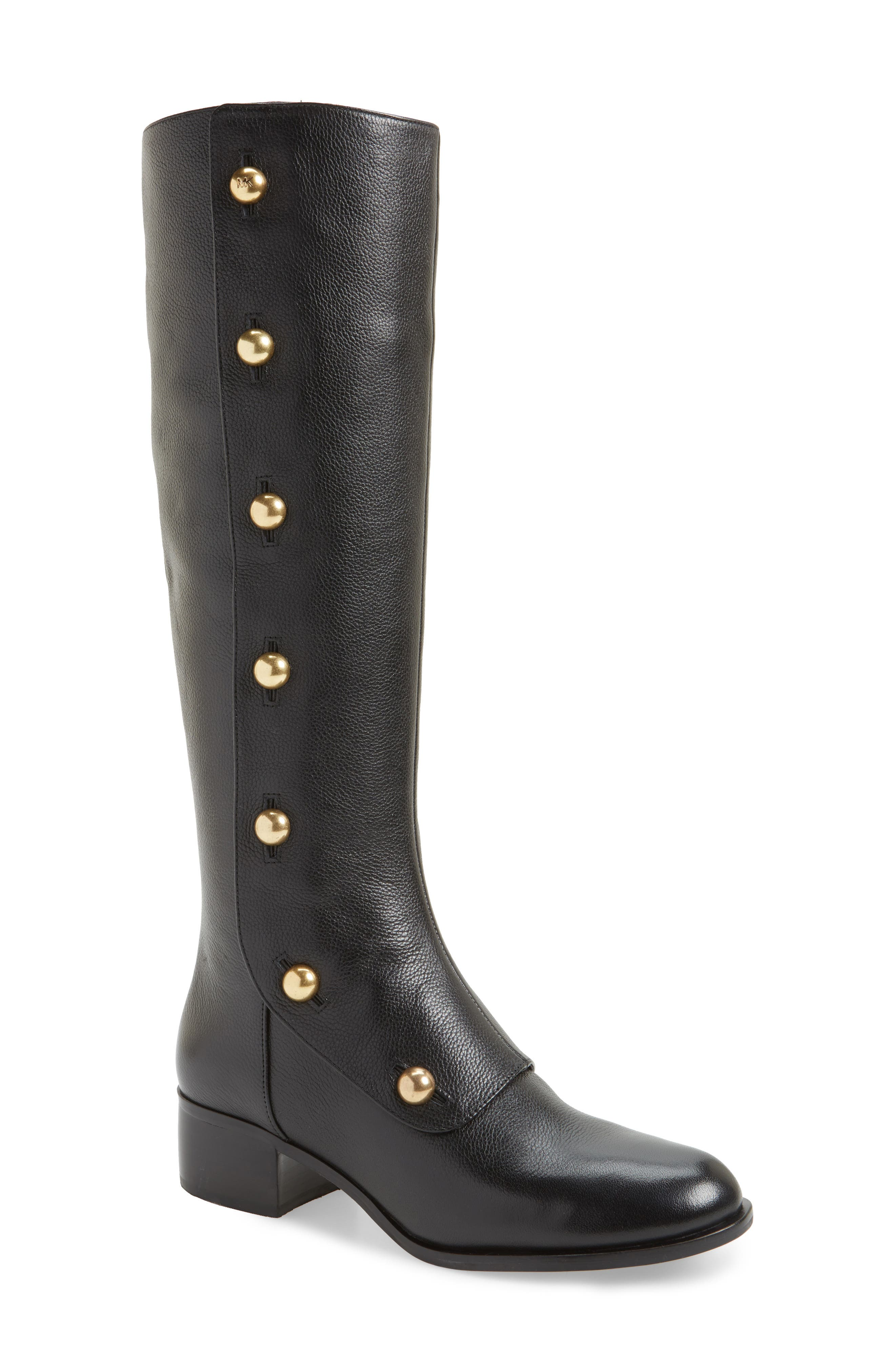 Maisie Boot,                             Main thumbnail 1, color,                             Black Tumbled Leather
