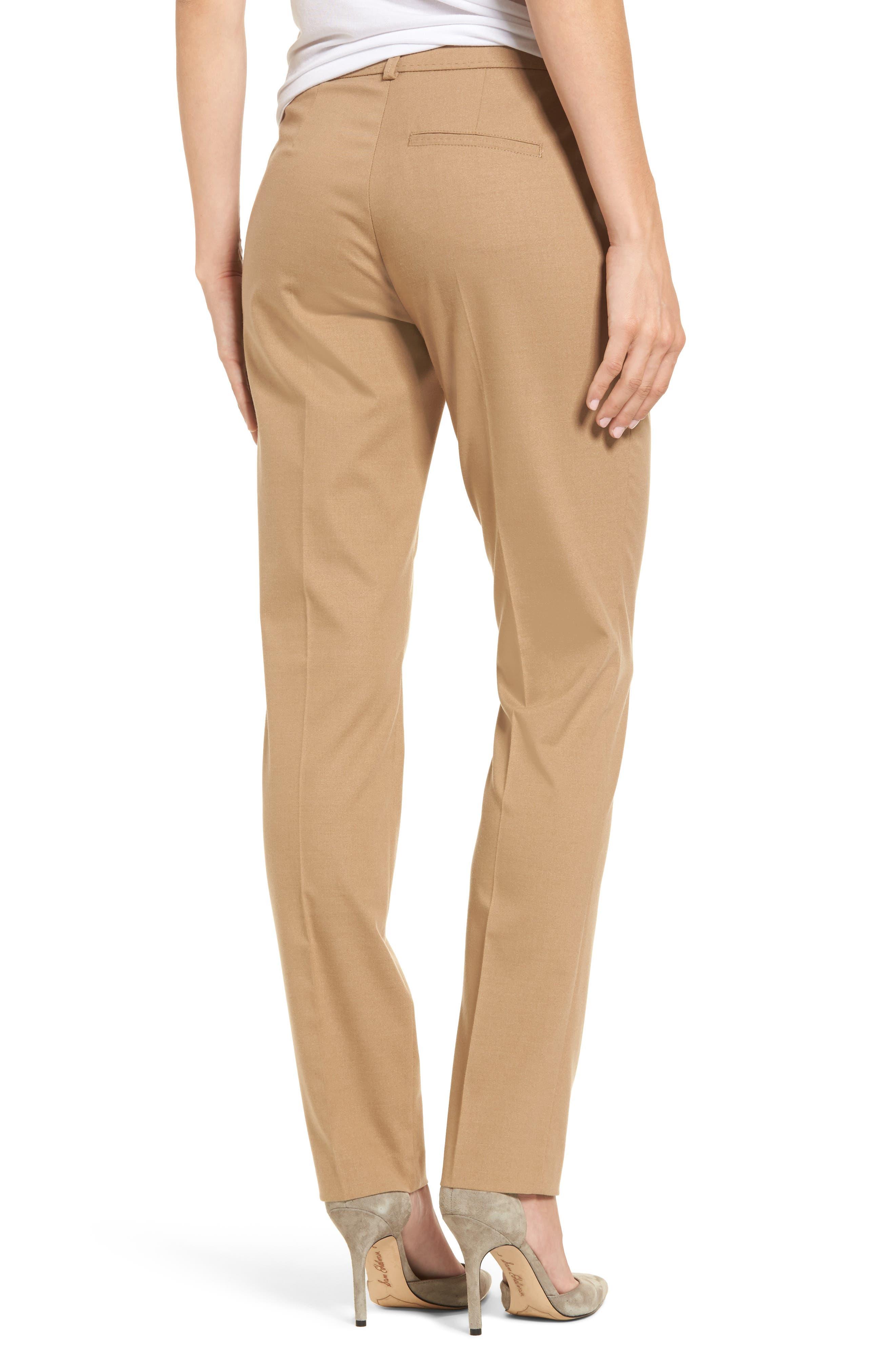 Straight Leg Trousers,                             Alternate thumbnail 2, color,                             Camel