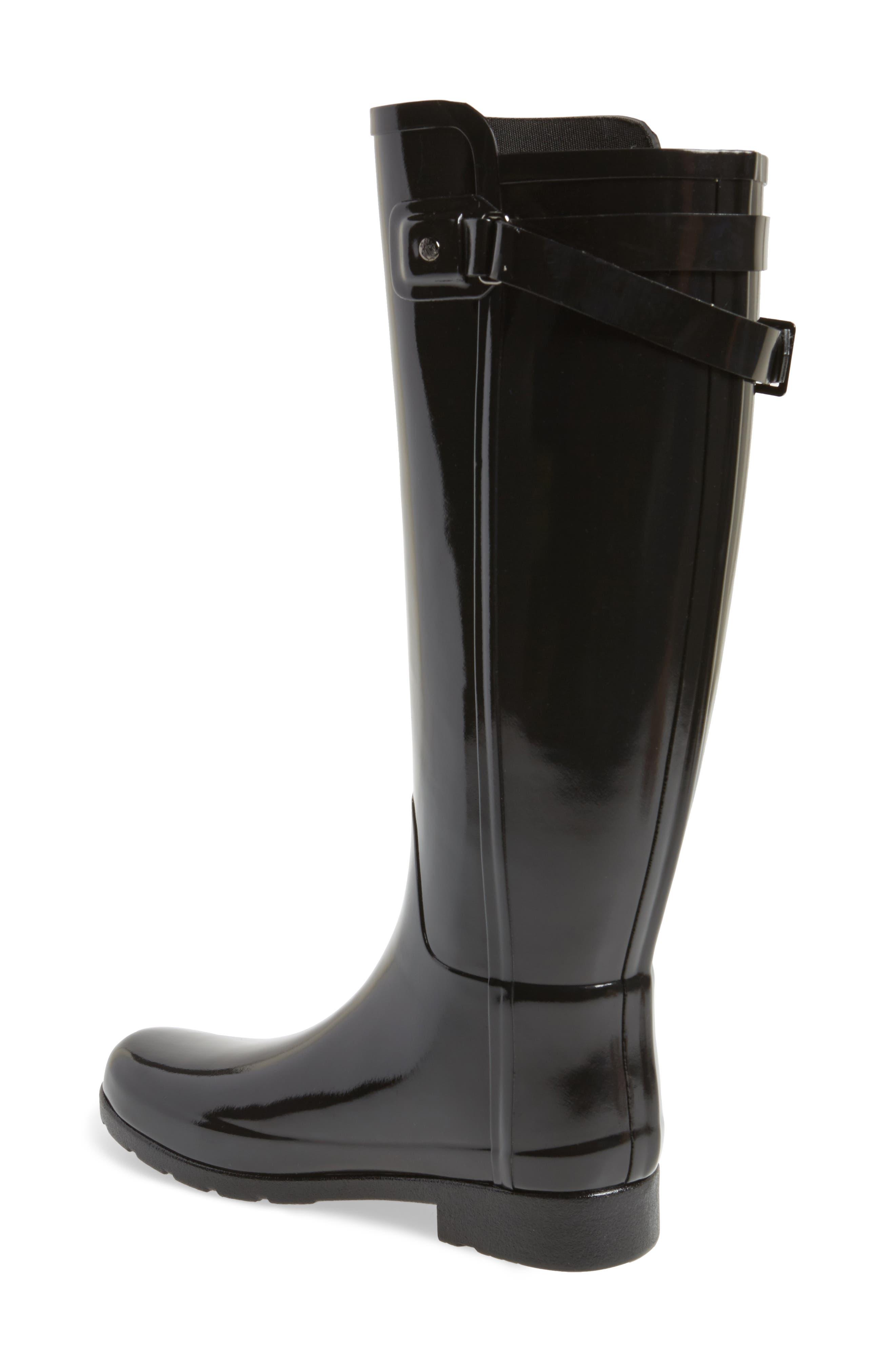 Alternate Image 2  - Hunter Original Refined High Gloss Rain Boot (Women)