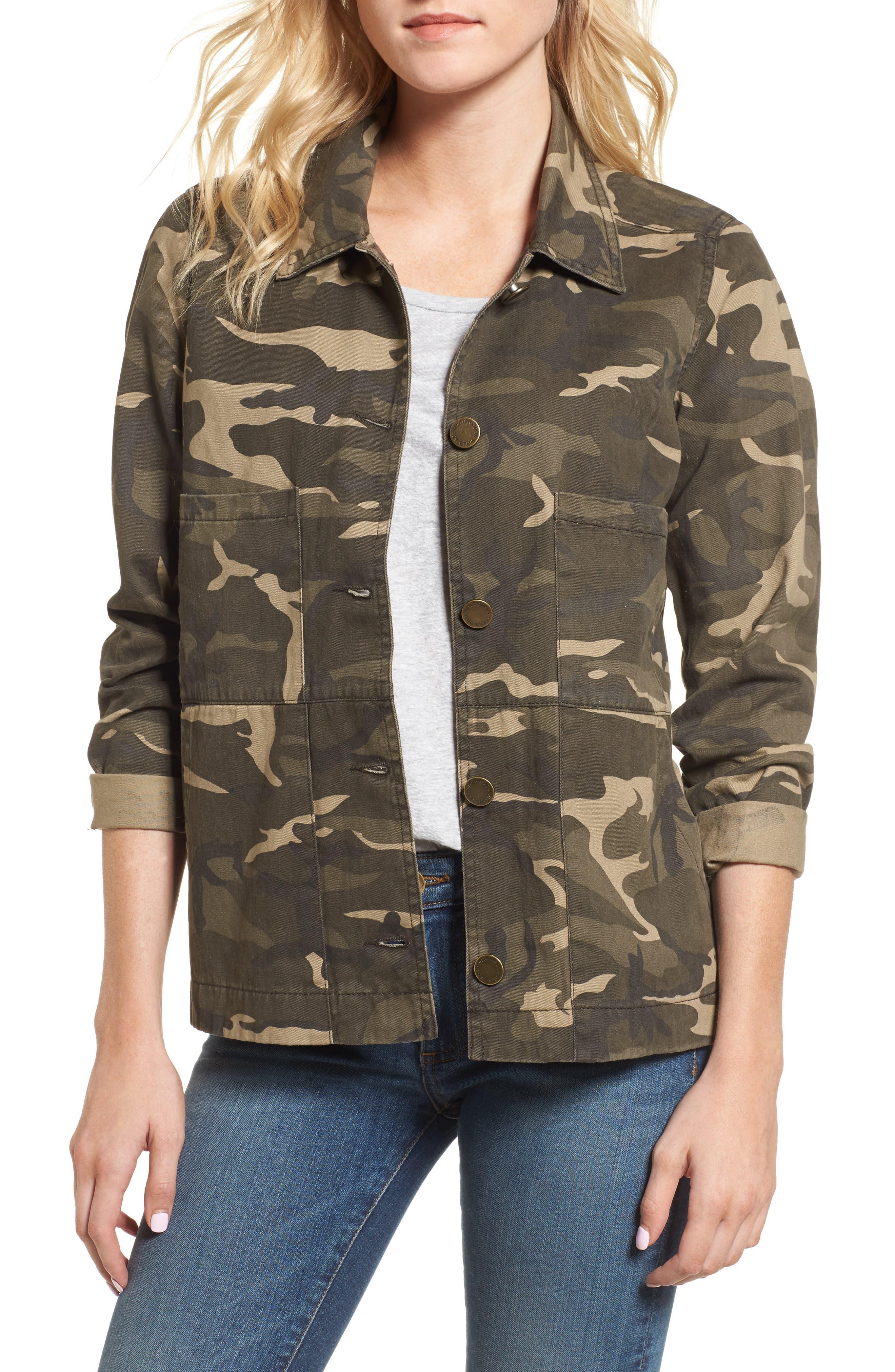 Camo Jacket,                         Main,                         color, Graphite Olive