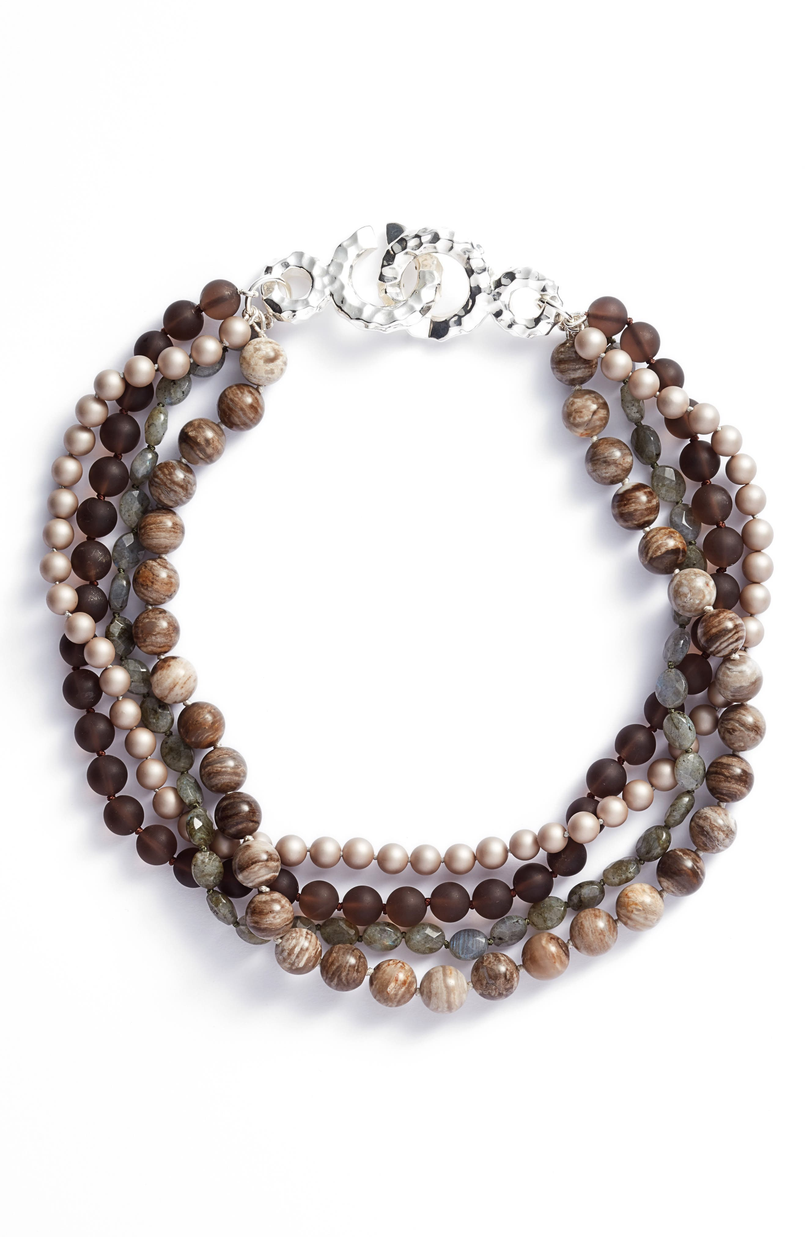 Simone Sebbag Multistrand Beaded Necklace,                         Main,                         color, Multi