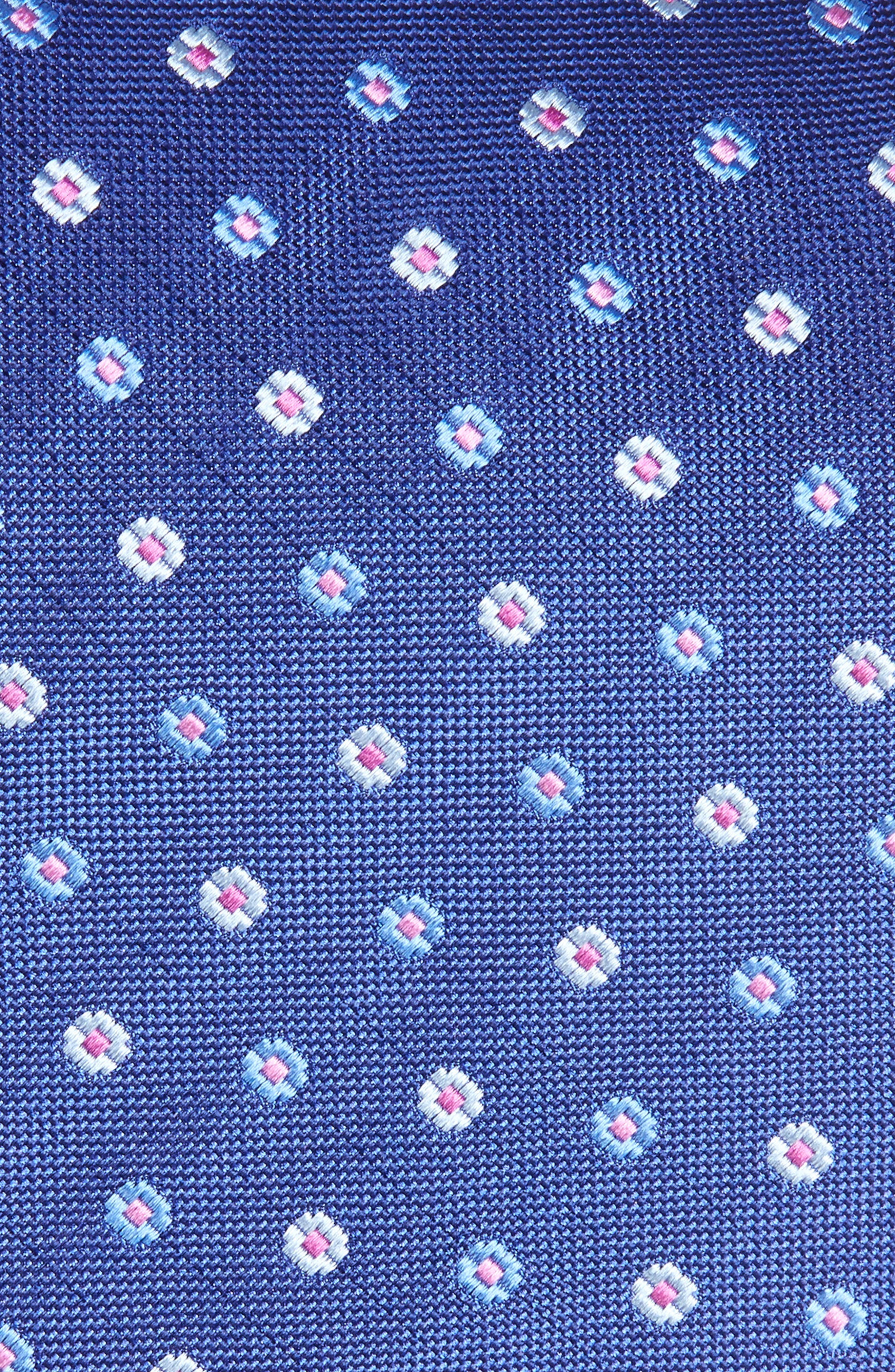 Geometric Silk Tie,                             Alternate thumbnail 2, color,                             Navy