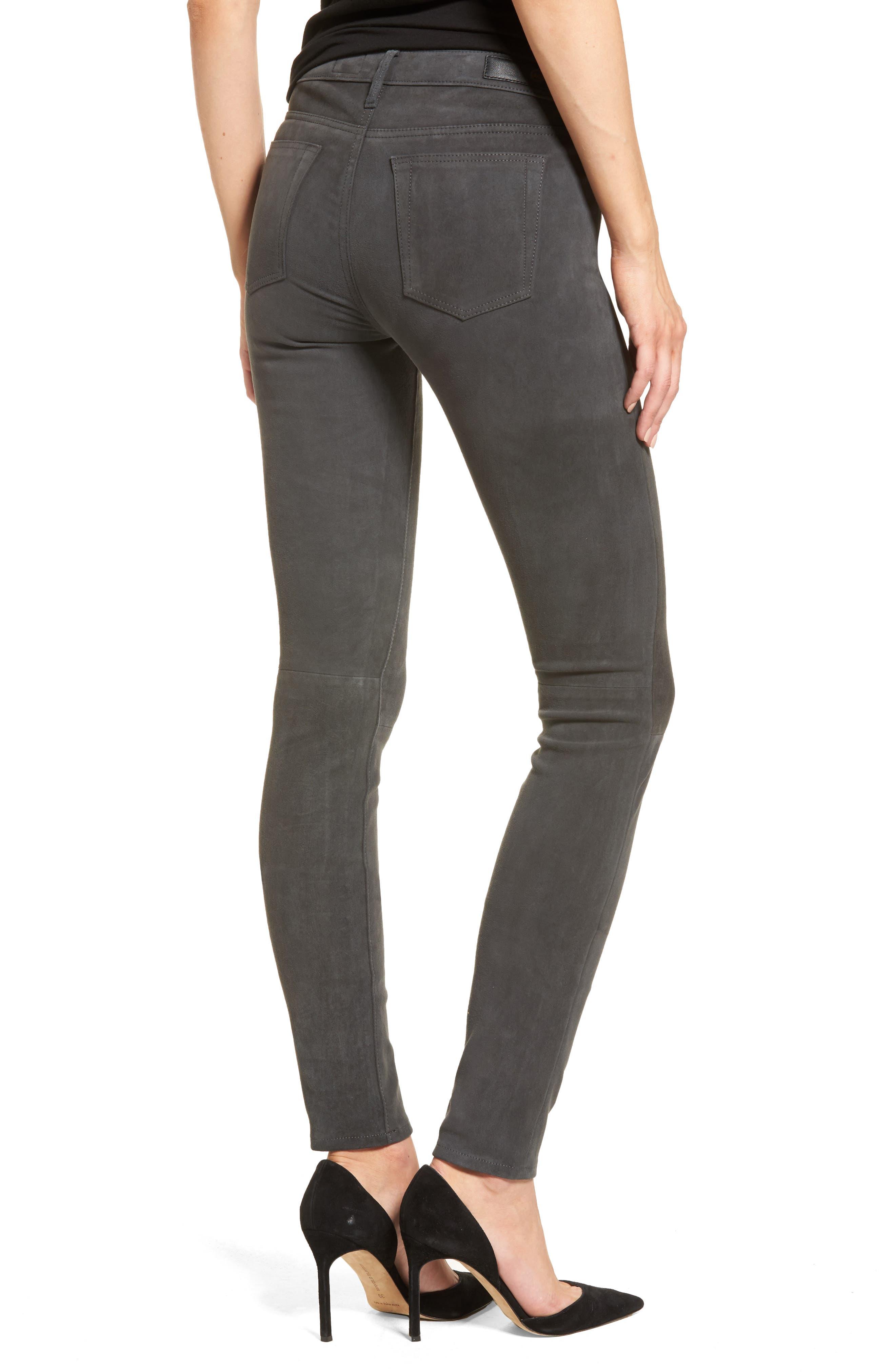The Legging Super Skinny Suede Pants,                             Alternate thumbnail 2, color,                             Dark Slate