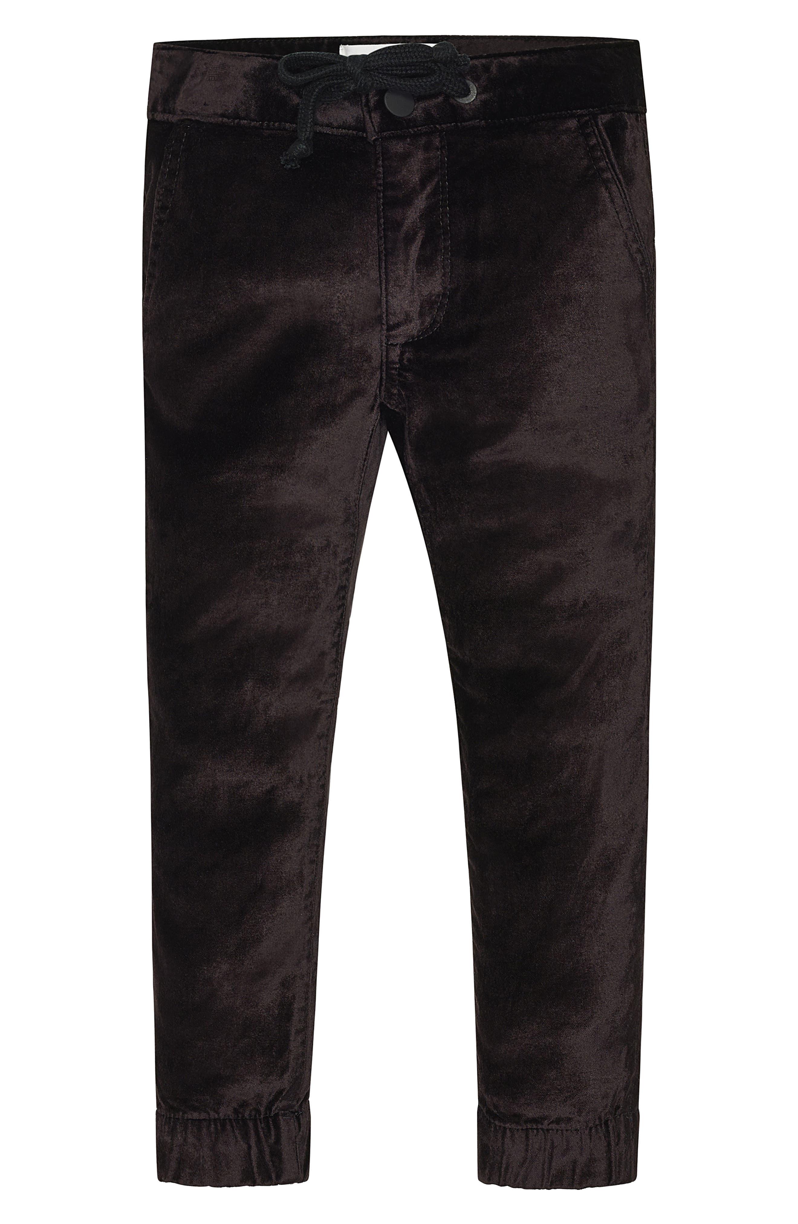 Mel Velvet Jogger Pants,                             Main thumbnail 1, color,                             Black Velvet