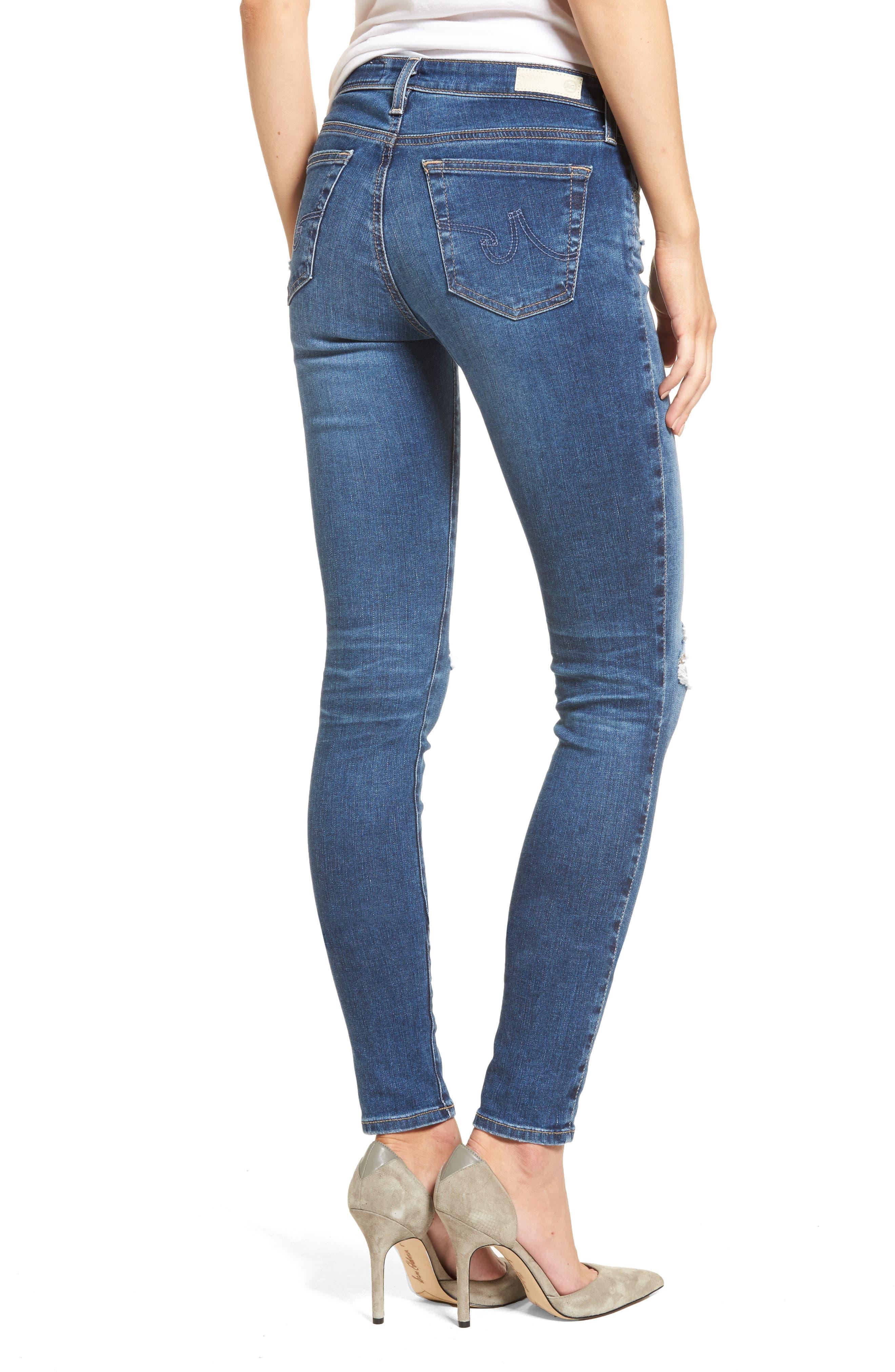 Alternate Image 2  - AG The Legging Super Skinny Jeans (13 Years Daybreak Destroyed)