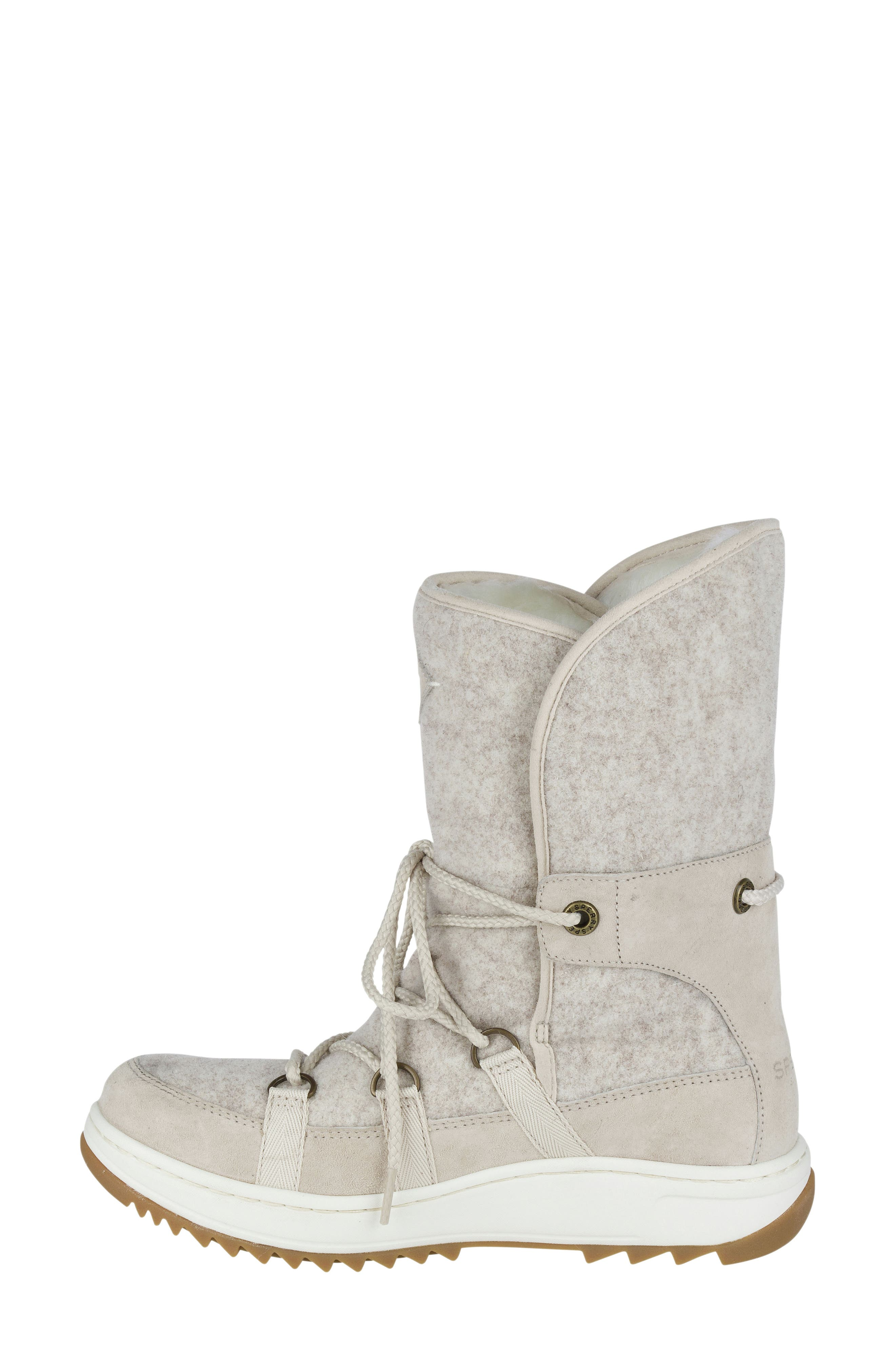 Powder Ice Cap Thinsulate Insulated Water Resistant Boot,                             Alternate thumbnail 4, color,                             Ivory Suede