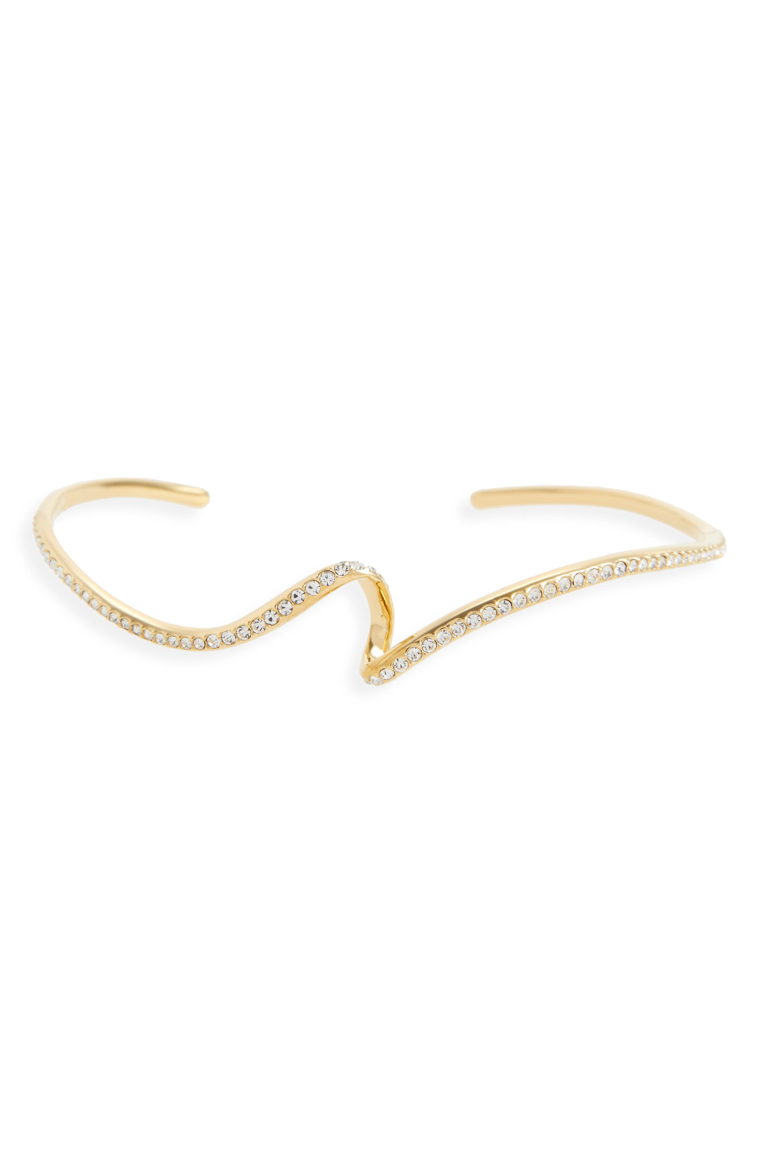 Citron Crystal Cuff,                         Main,                         color, Gold