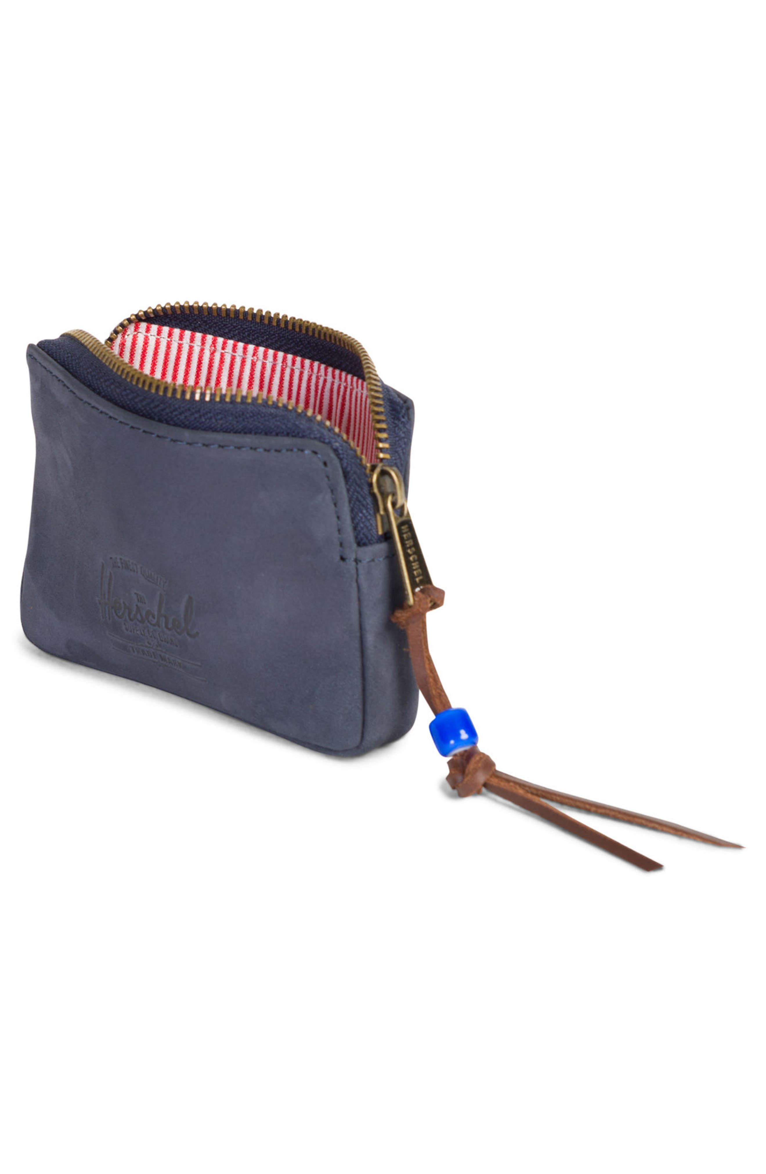 Oxford Zip Pouch,                             Alternate thumbnail 2, color,                             Peacoat Leather