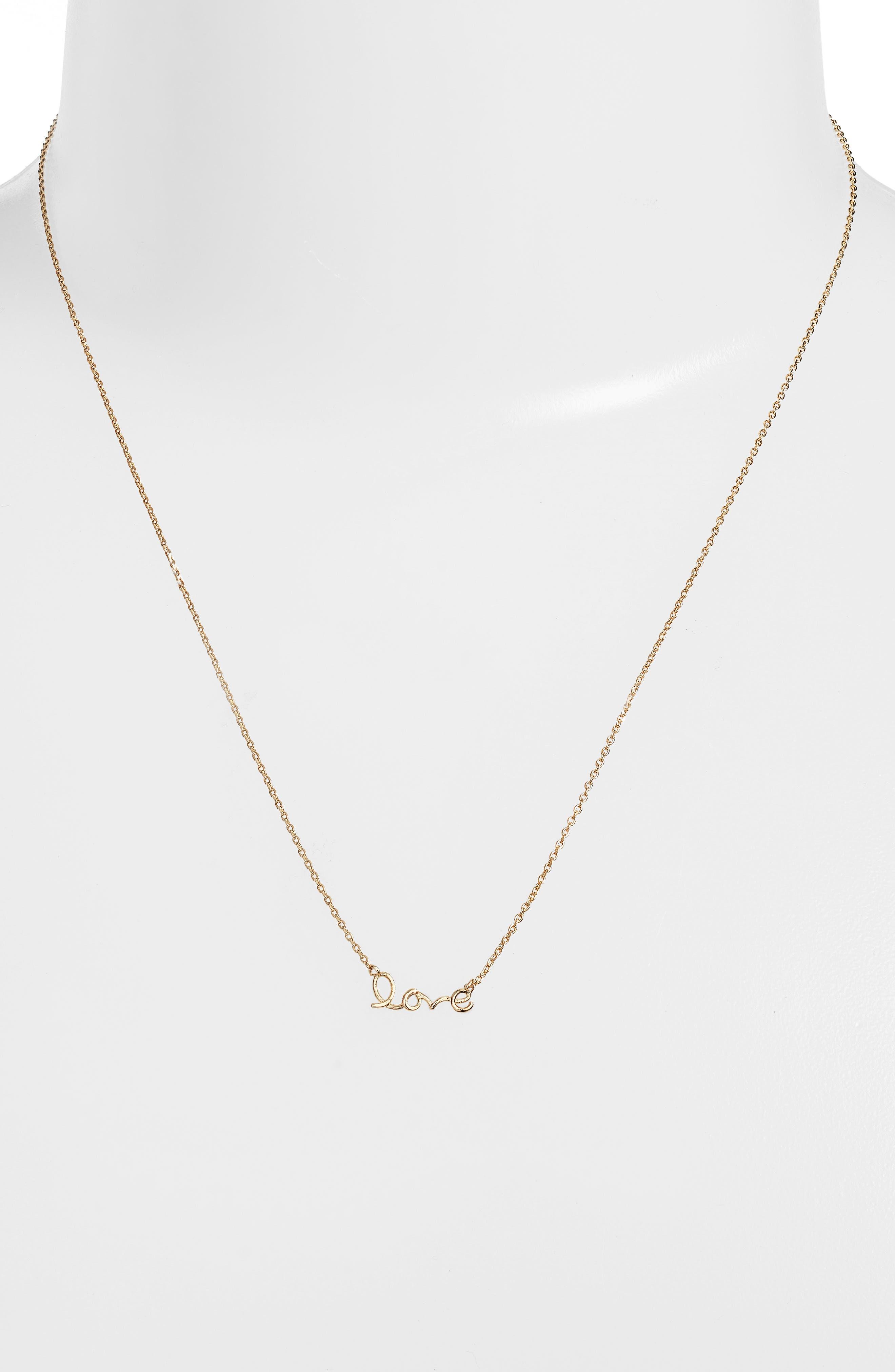 Alternate Image 2  - Estella Bartlett Love Pendant Necklace