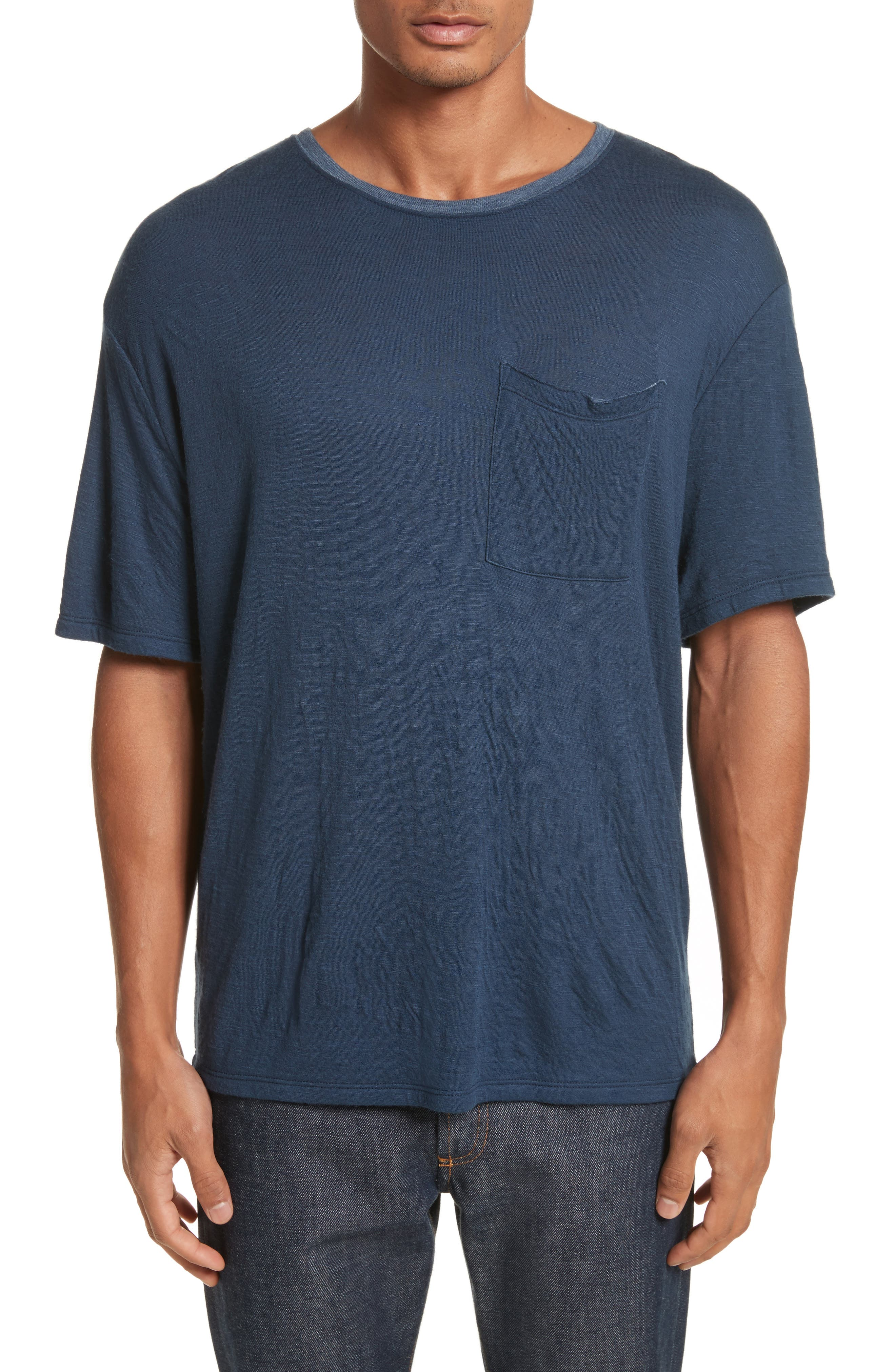 Double Face T-Shirt,                             Main thumbnail 1, color,                             Navy