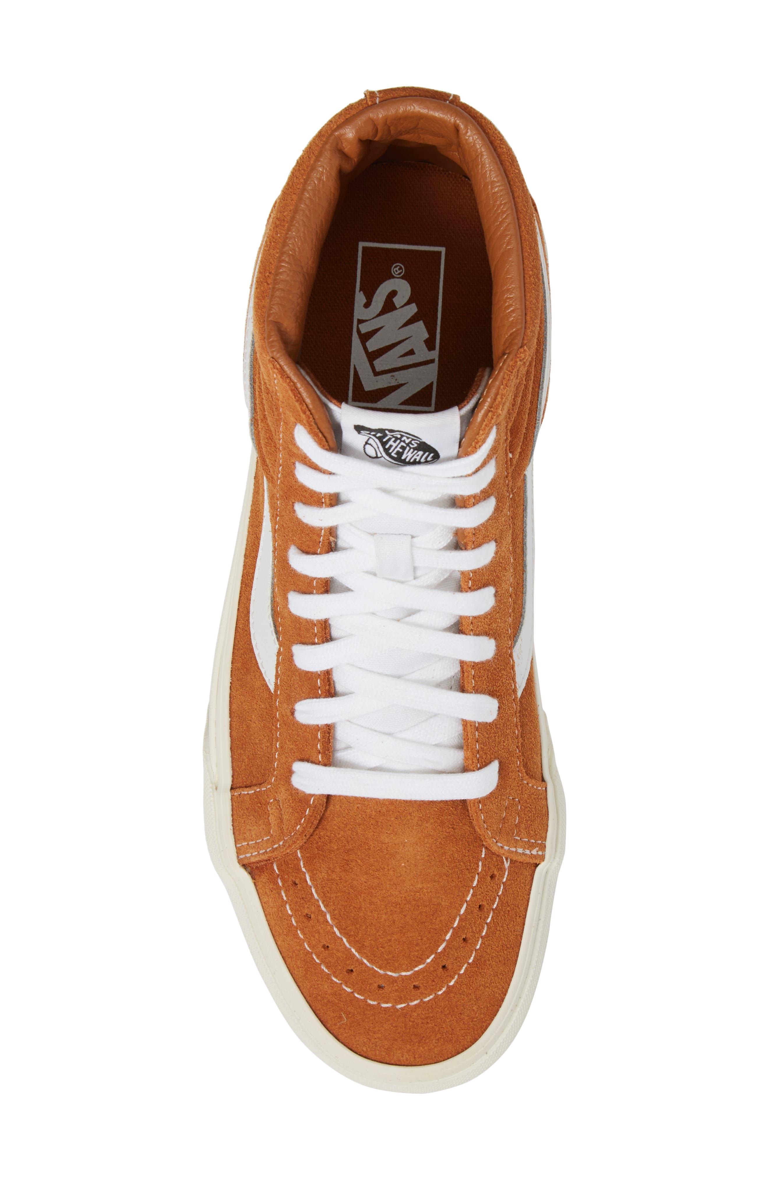 Sk8-Hi Reissue Sneaker,                             Alternate thumbnail 5, color,                             Glazed Ginger Suede