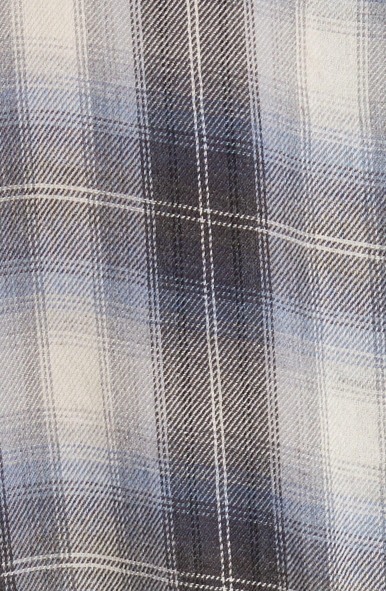 Alternate Image 5  - Vince Shadow Plaid Sleeveless Wrap Dress