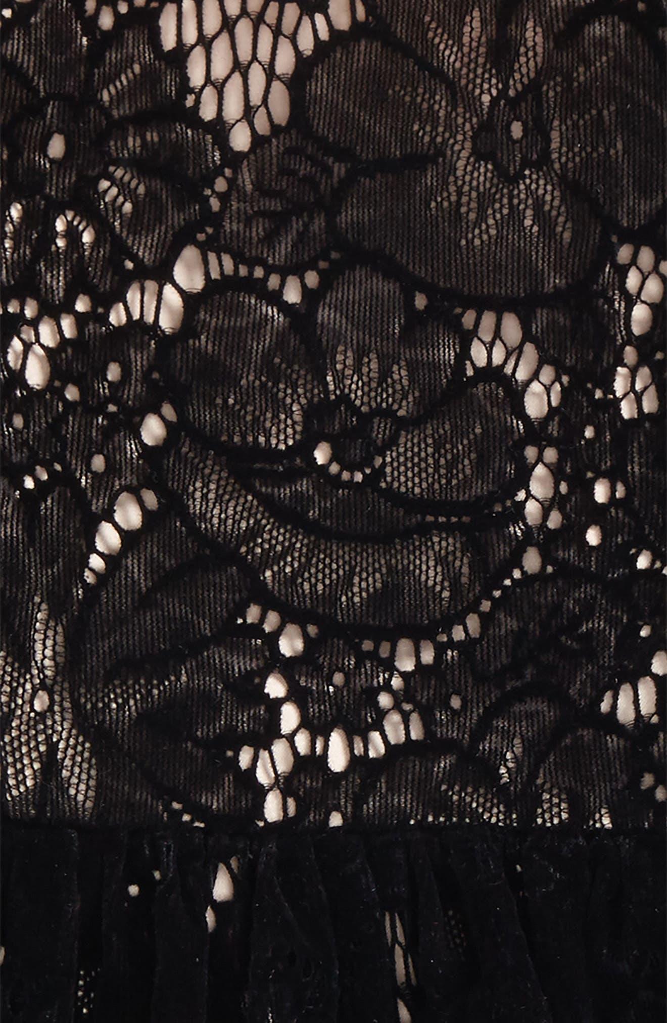 Alternate Image 2  - Bardot Junior Flocked Lace Dress (Baby Girls & Toddler Girls)