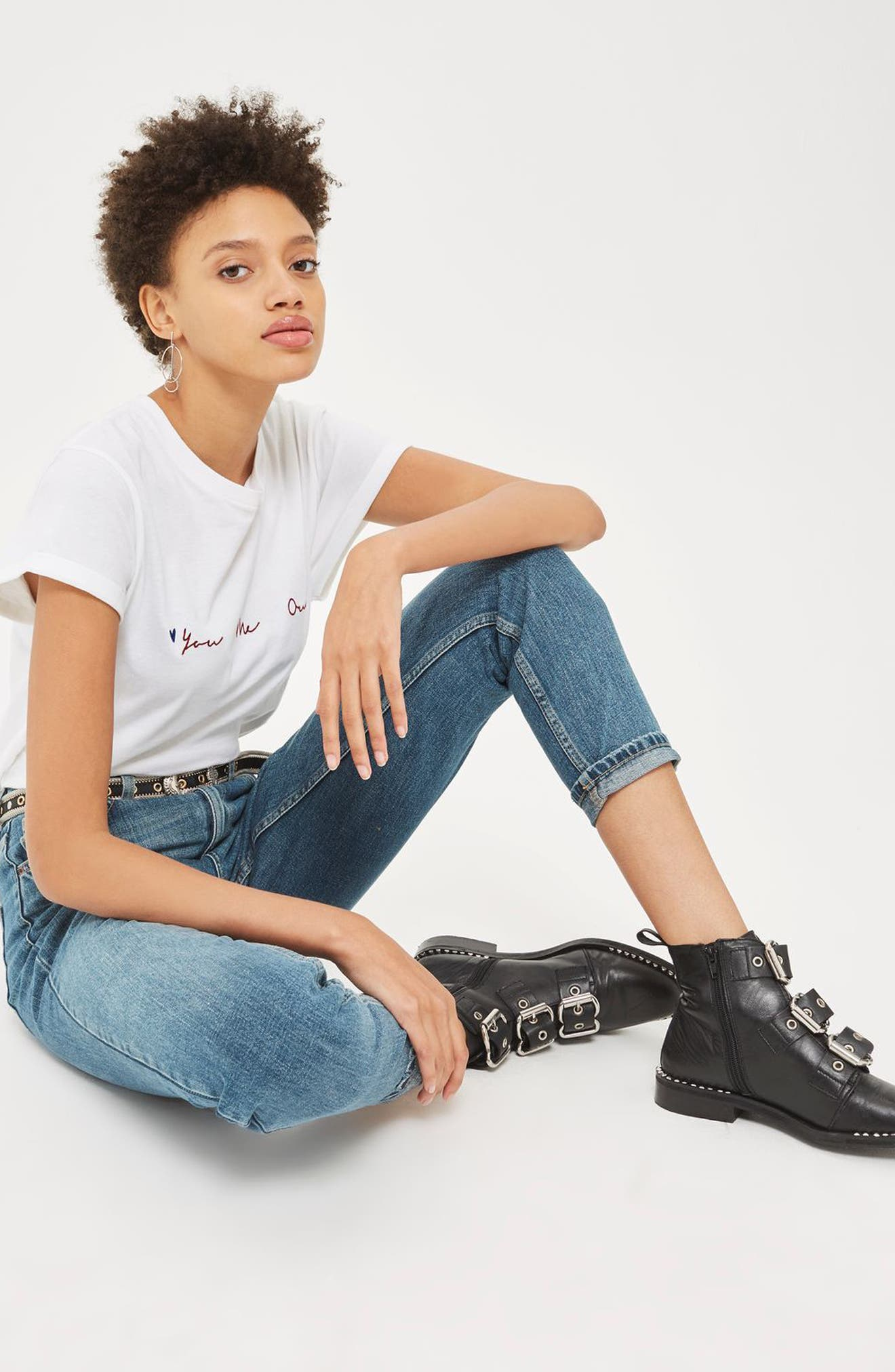Alternate Image 2  - Topshop Mom Jeans