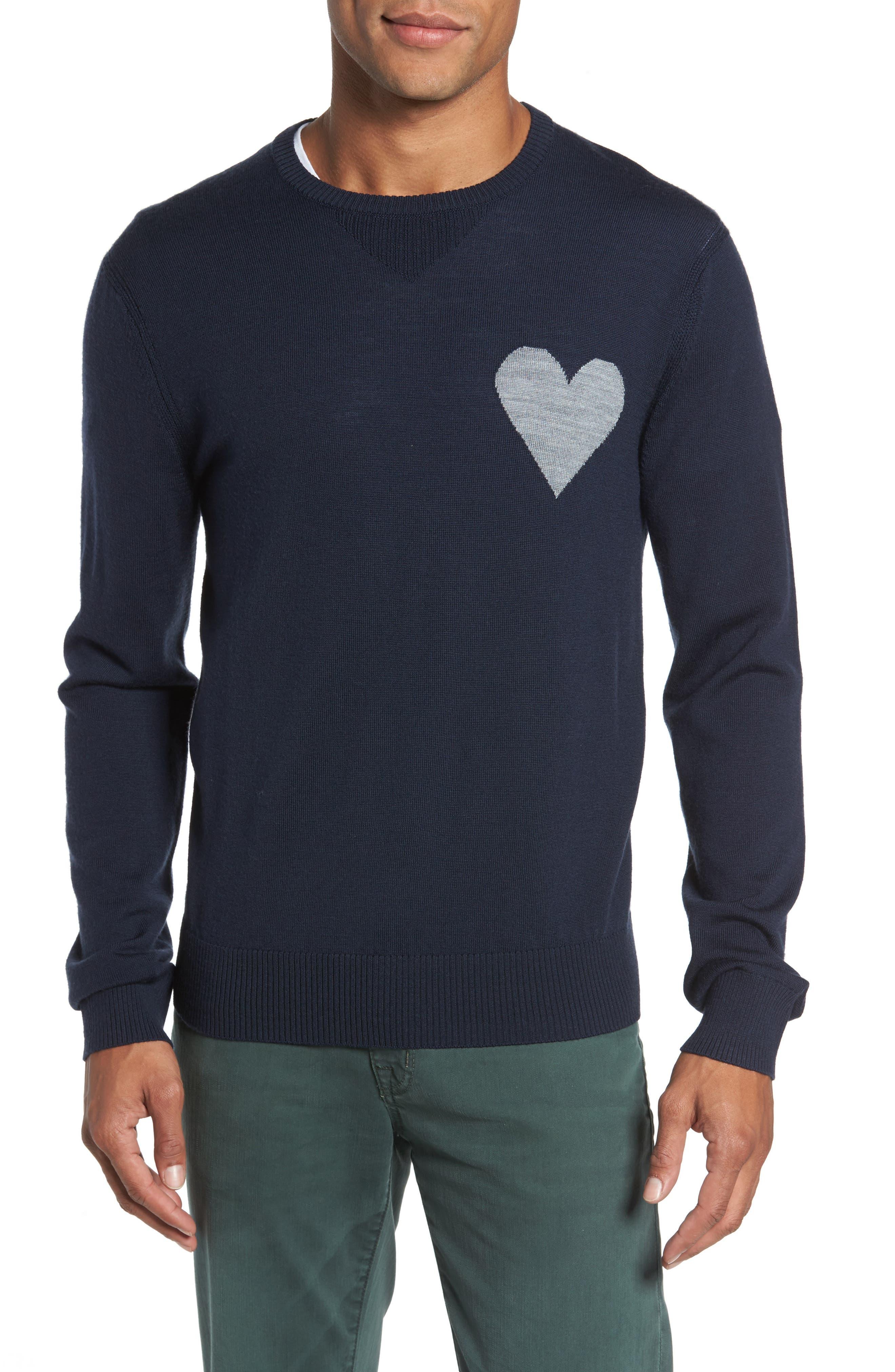 Michael Bastian Heart-On Intarsia Merino Sweater