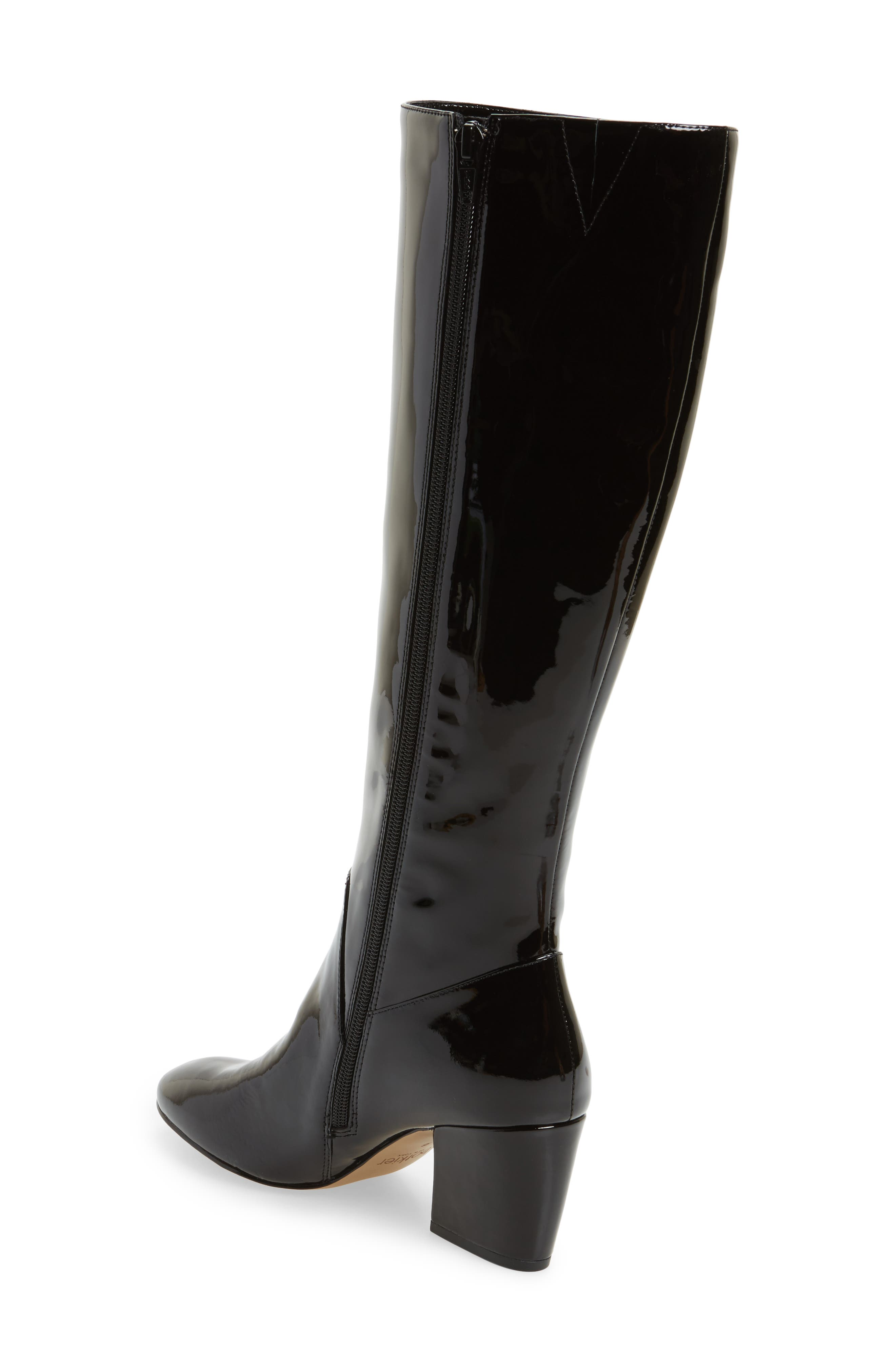 Adelle Knee High Boot,                             Alternate thumbnail 3, color,                             Black Patent Leather