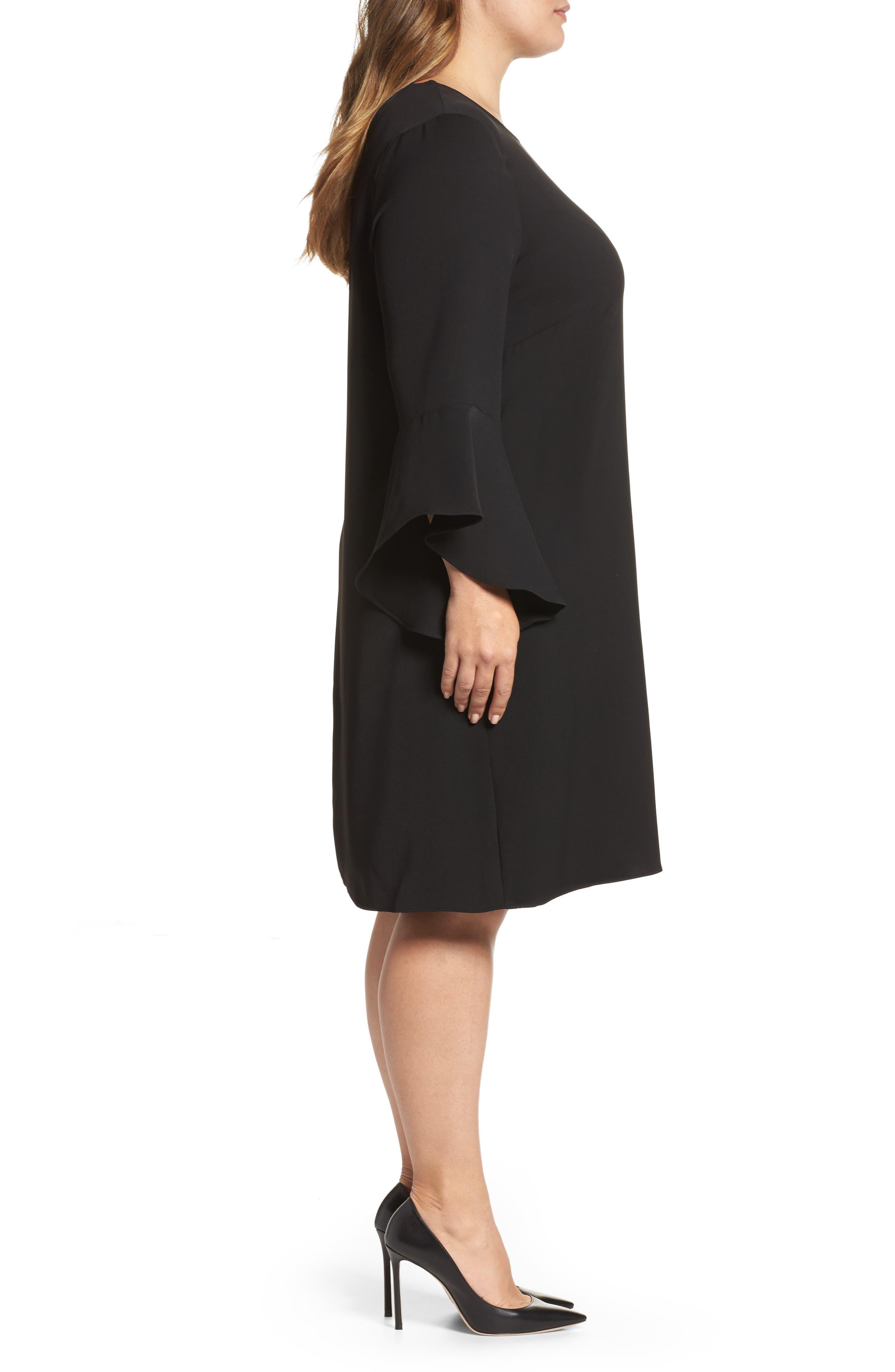 Alternate Image 3  - Glamorous Bell Sleeve Shift Dress (Plus Size)