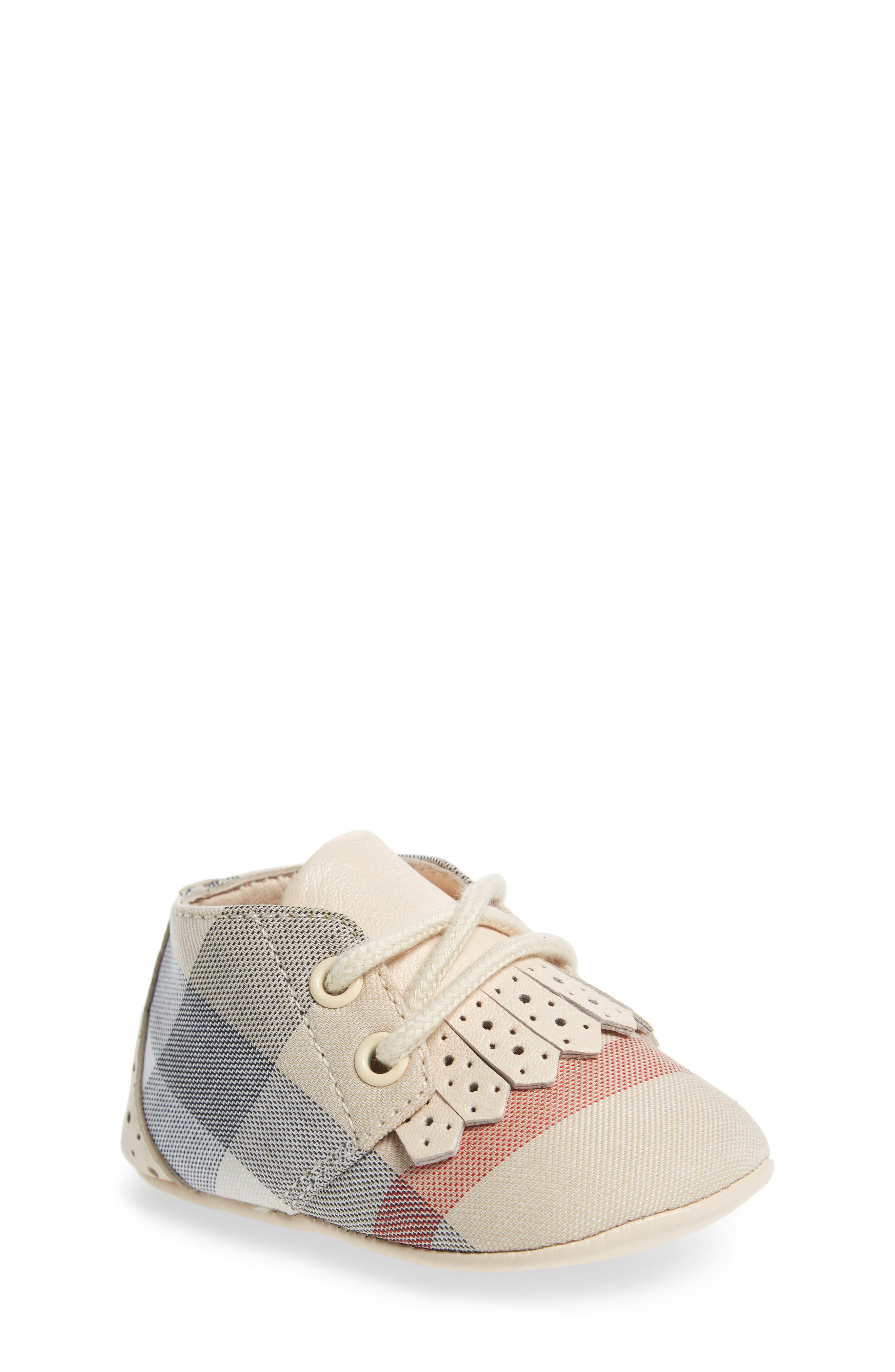 Burberry Tom Lace-Up Crib Shoe (Baby)