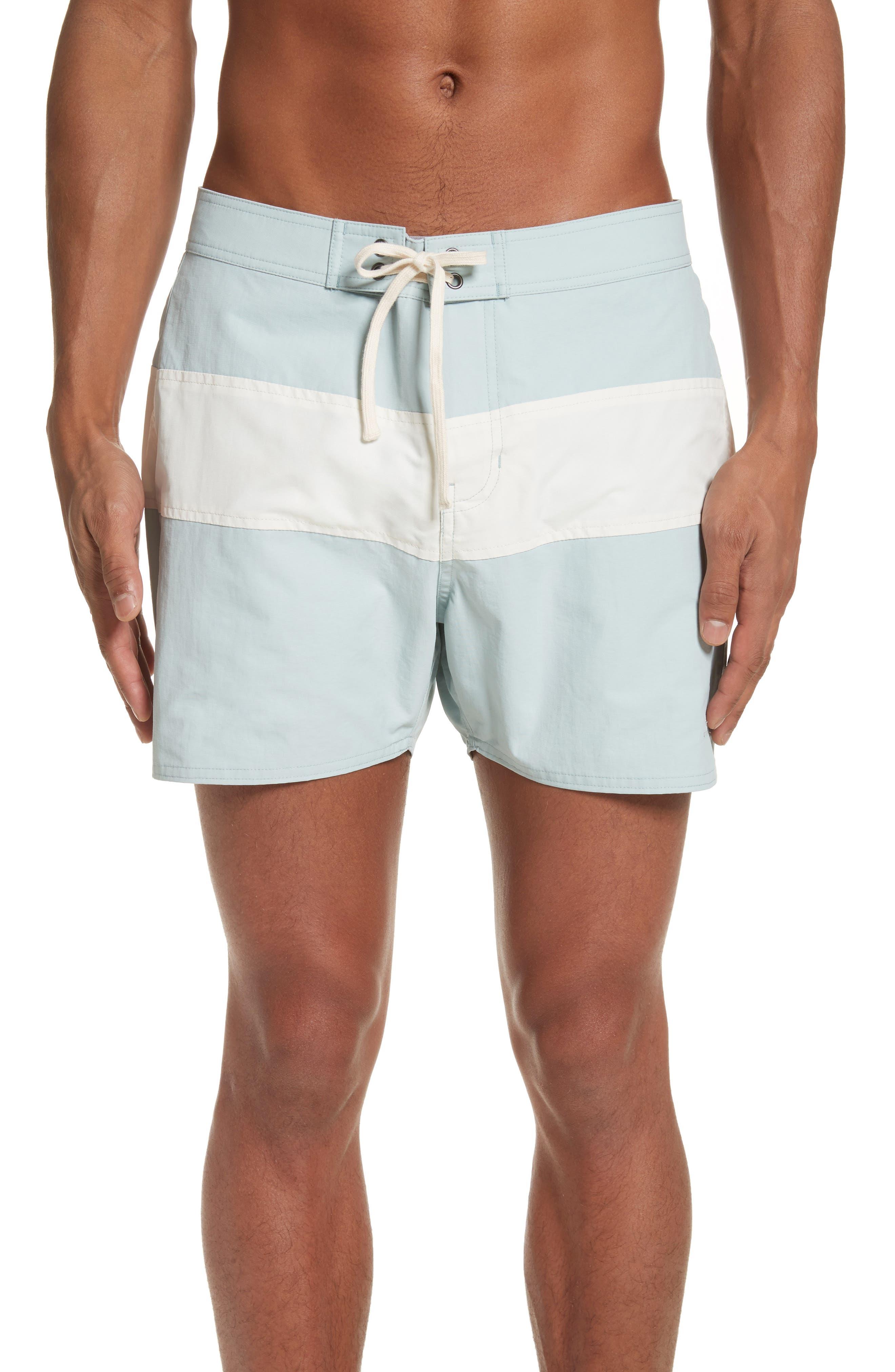 Grant Board Shorts,                         Main,                         color, Stone Blue/ White
