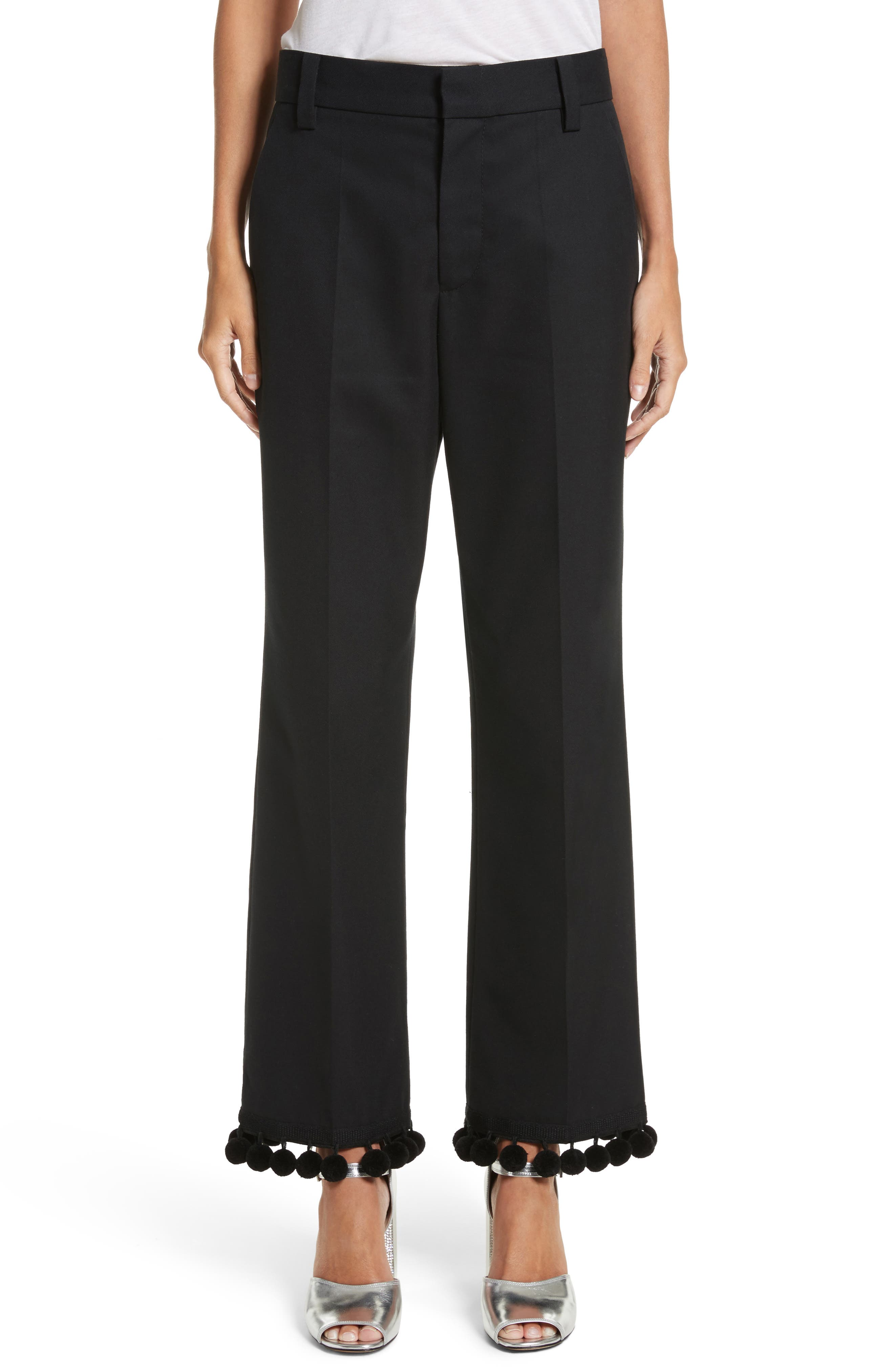 MARC JACOBS Pompom Hem Trousers