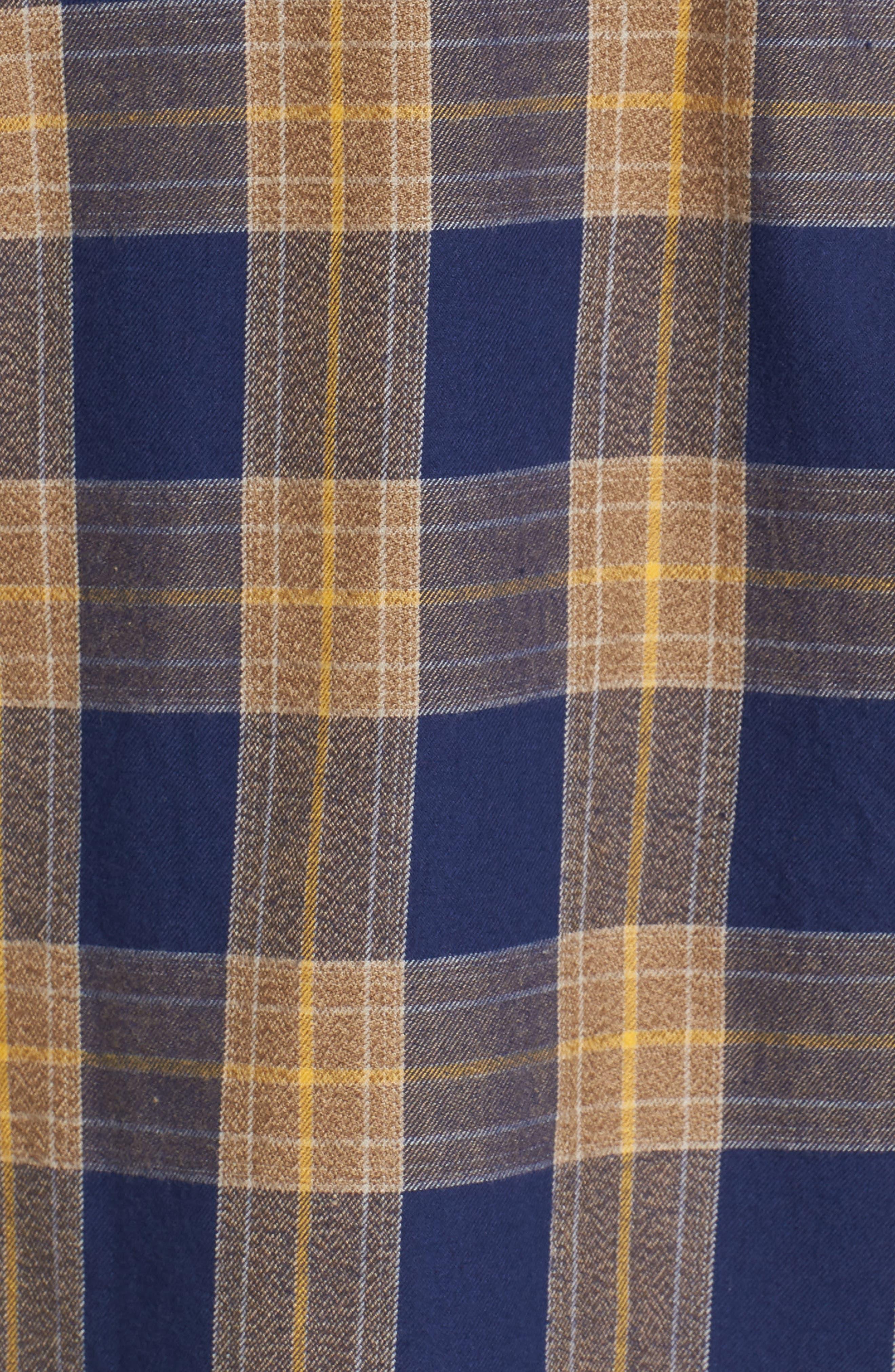 Scotch & Sode Brushed Cotton Shirt,                             Alternate thumbnail 5, color,                             Blue
