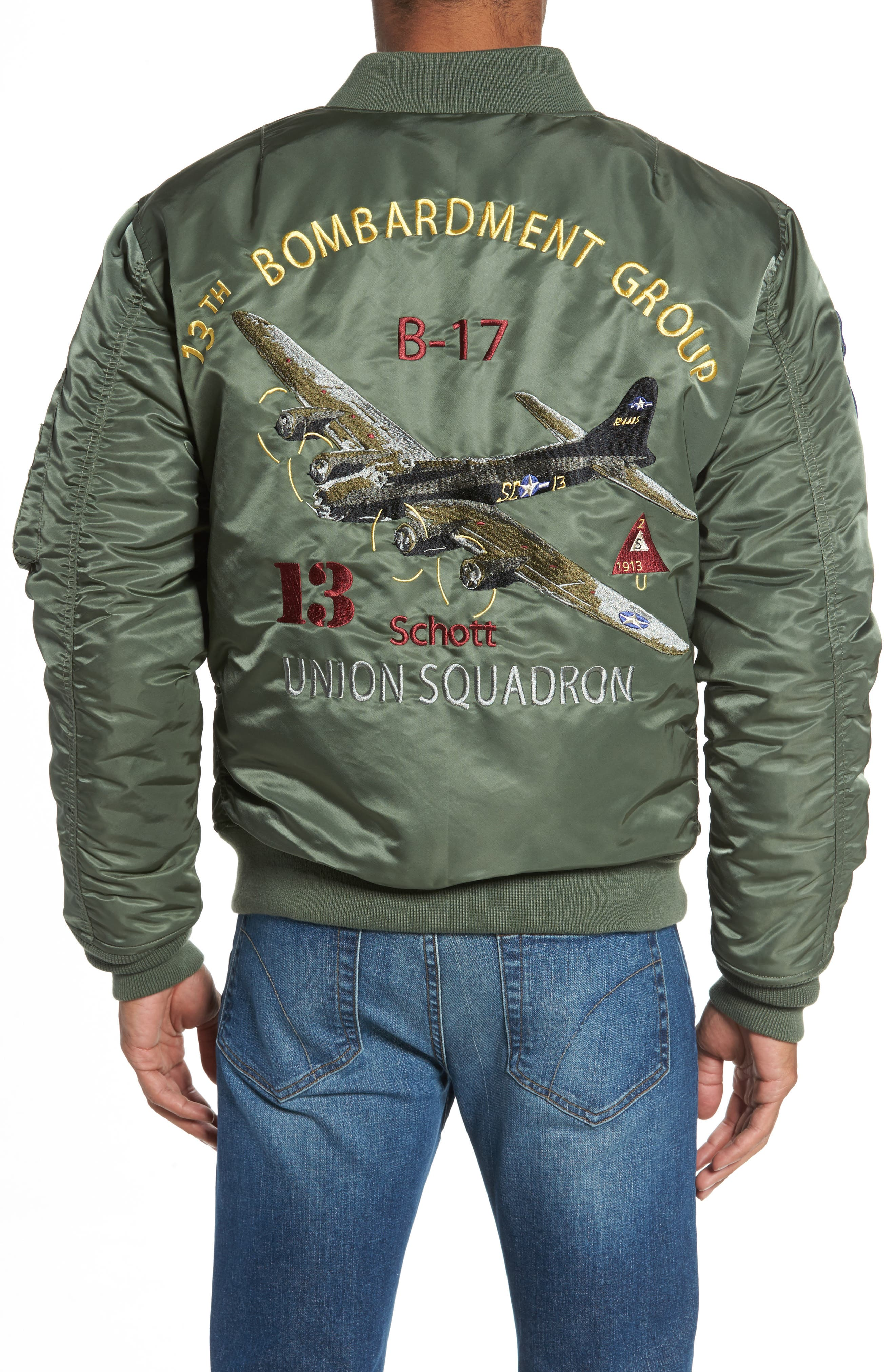 Highly Decorated Embroidered Flight Jacket,                             Alternate thumbnail 2, color,                             Sage