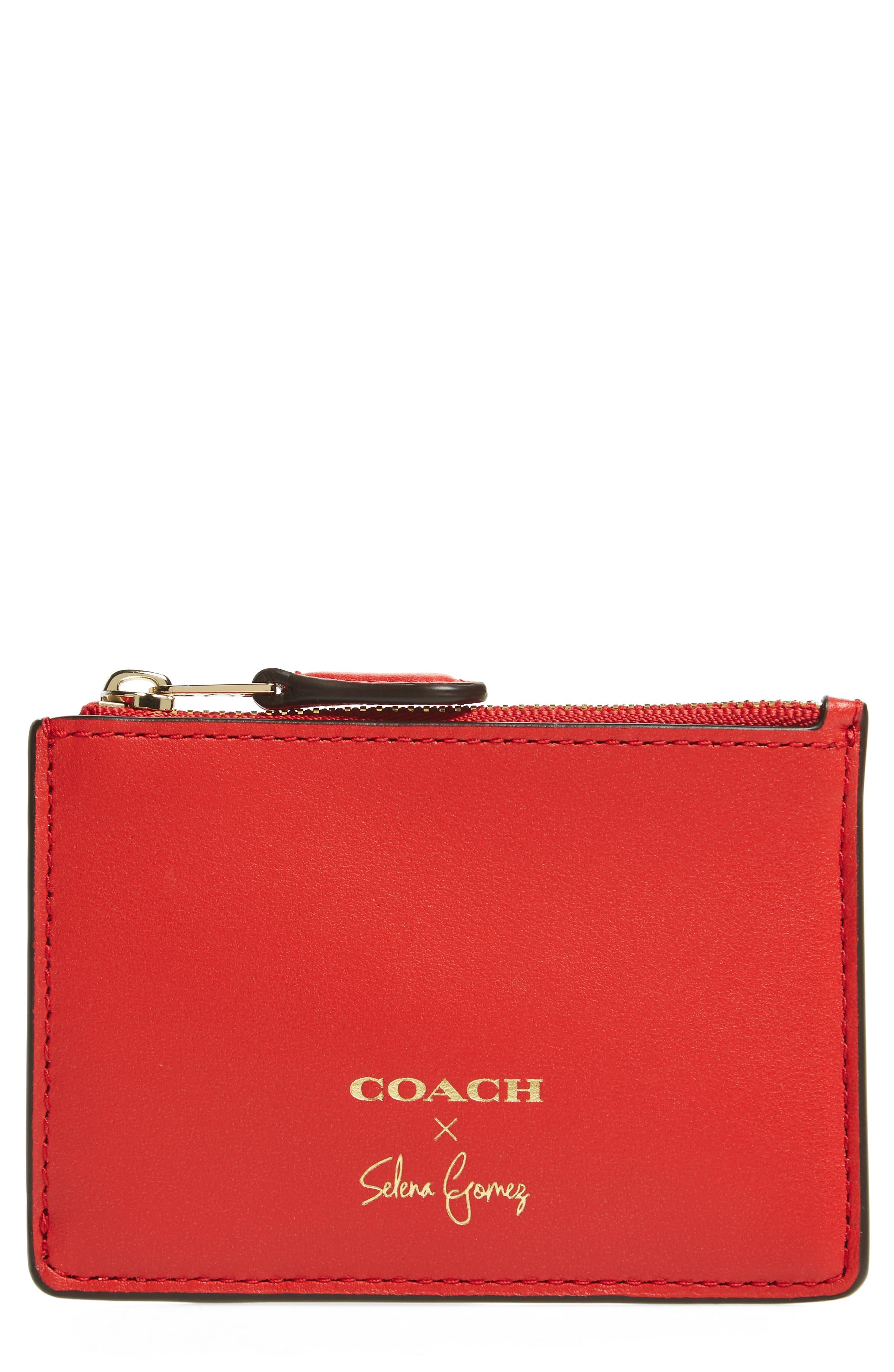 COACH x Selena Gomez Mini Skinny Leather Card Case