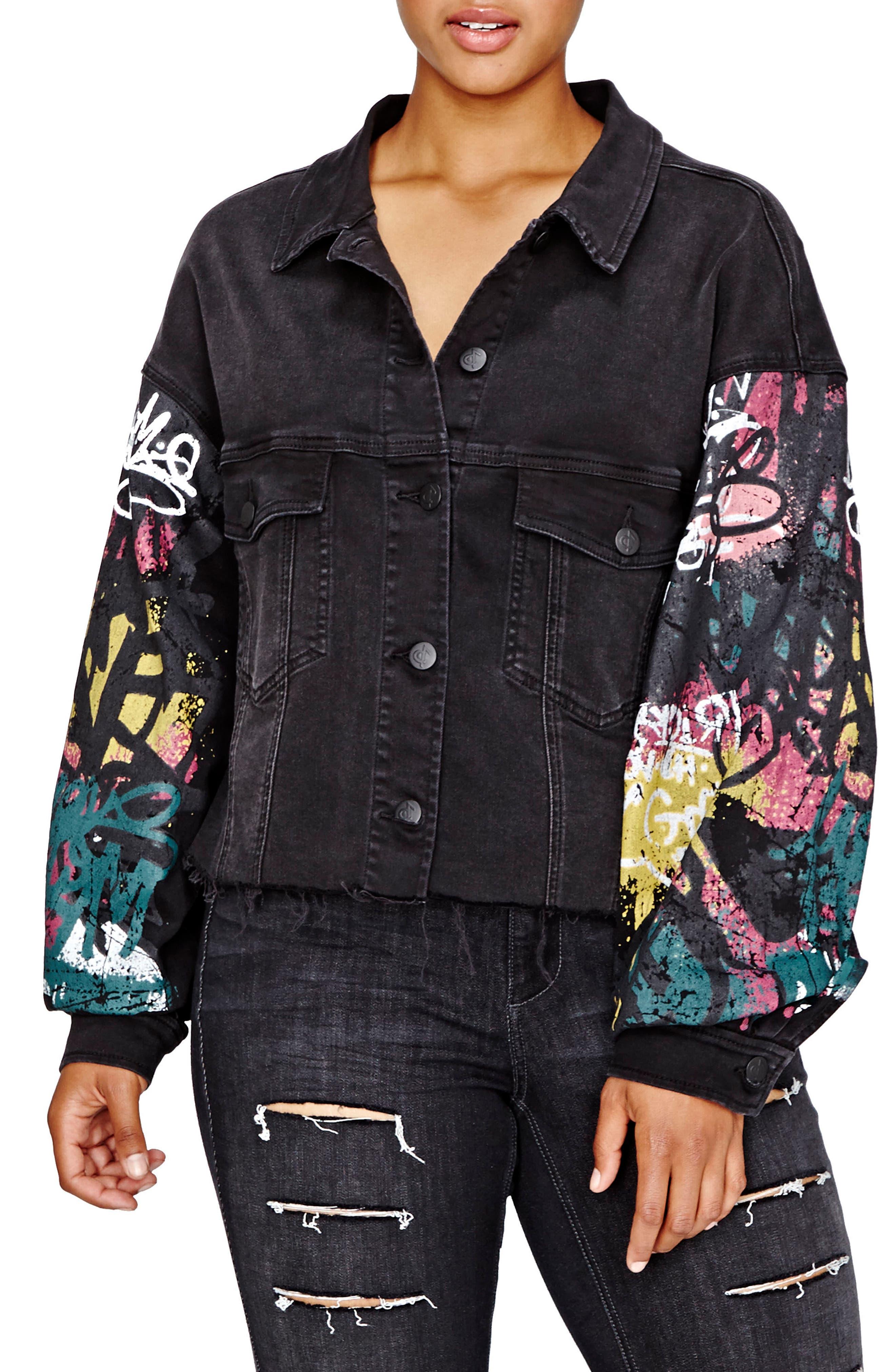 ADDITION ELLE LOVE AND LEGEND Jordyn Woods Carpenter Crop Denim Jacket (Plus Size)