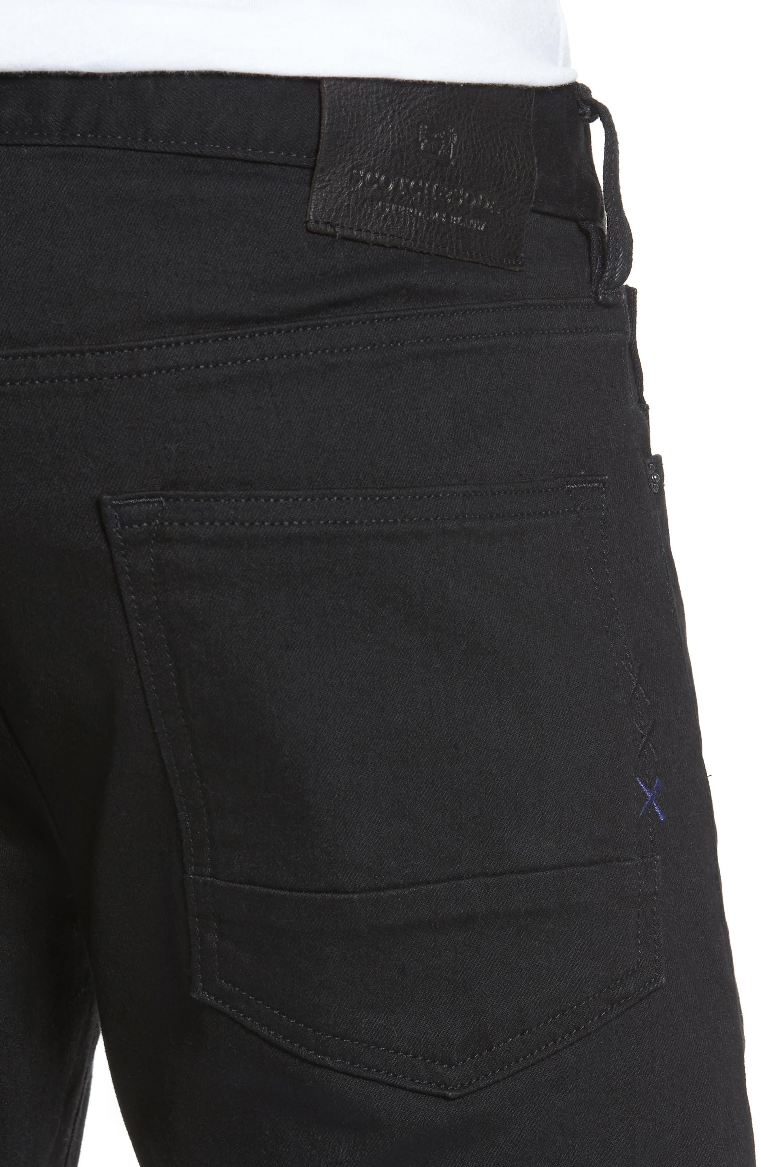 Alternate Image 4  - Scotch & Soda Ralston Slim Straight Leg Jeans (Stay Black)