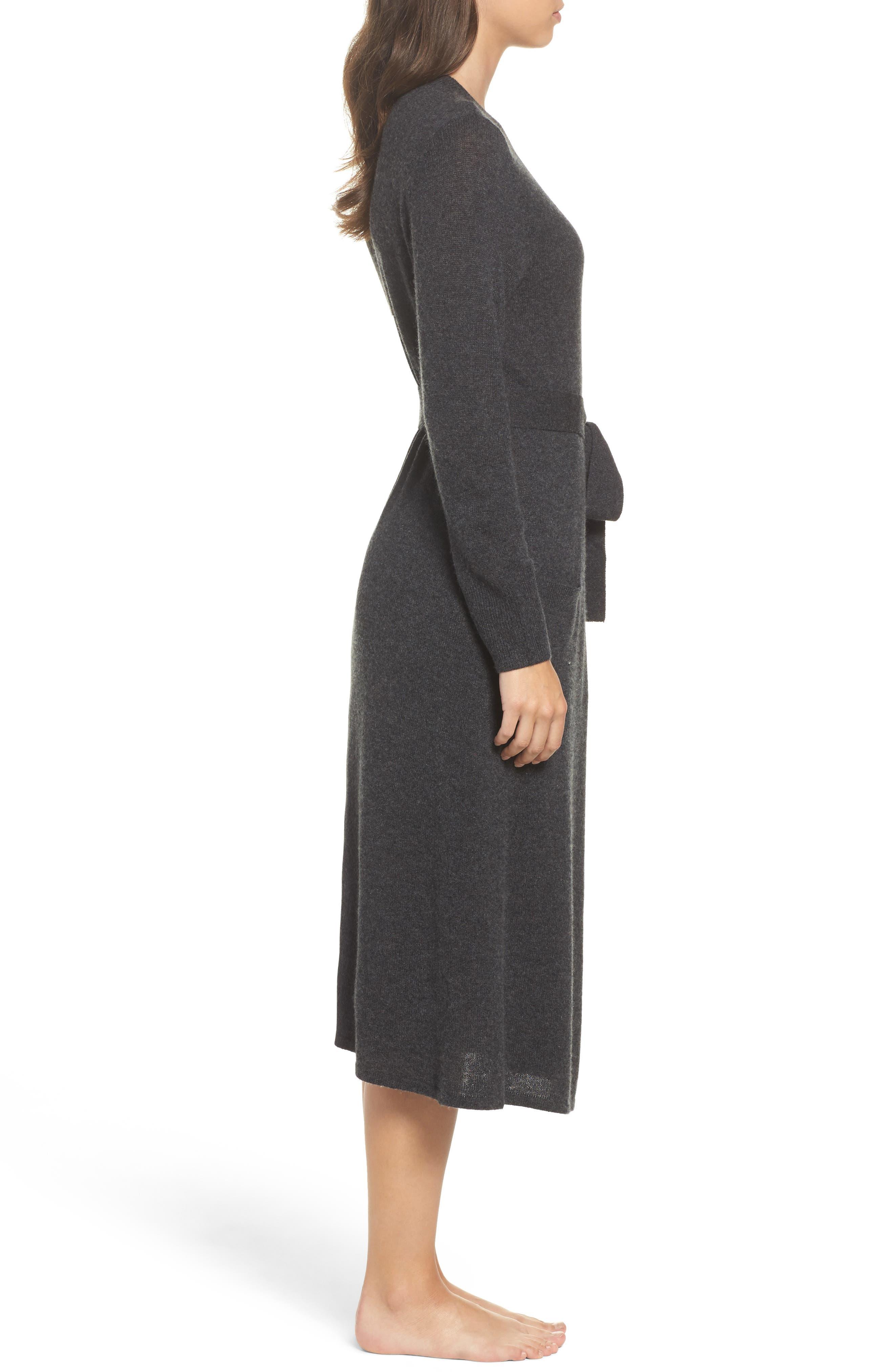 Alternate Image 3  - Nordstrom Lingerie Cashmere Robe