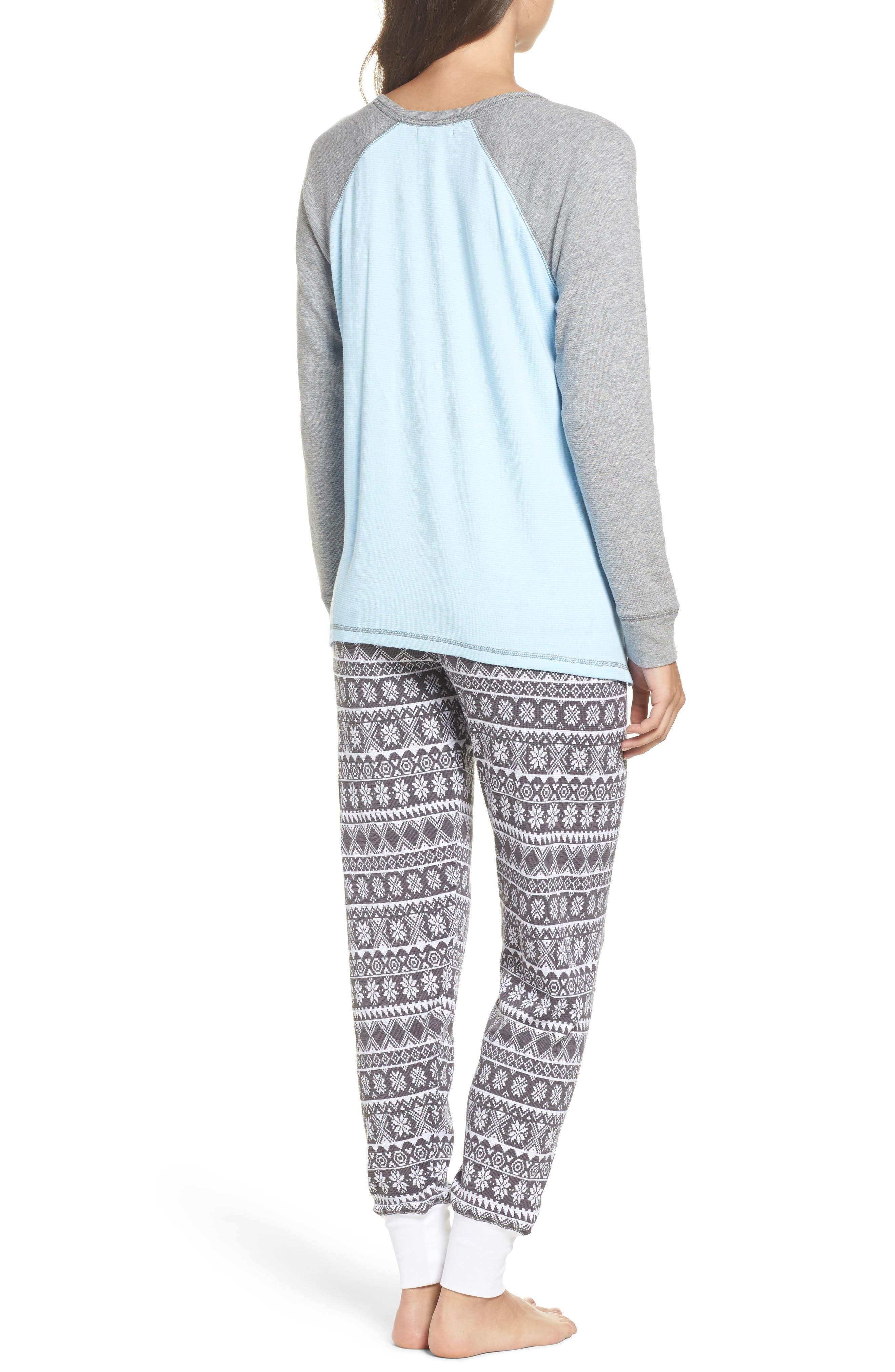 Thermal Pajamas,                             Alternate thumbnail 2, color,                             Grey