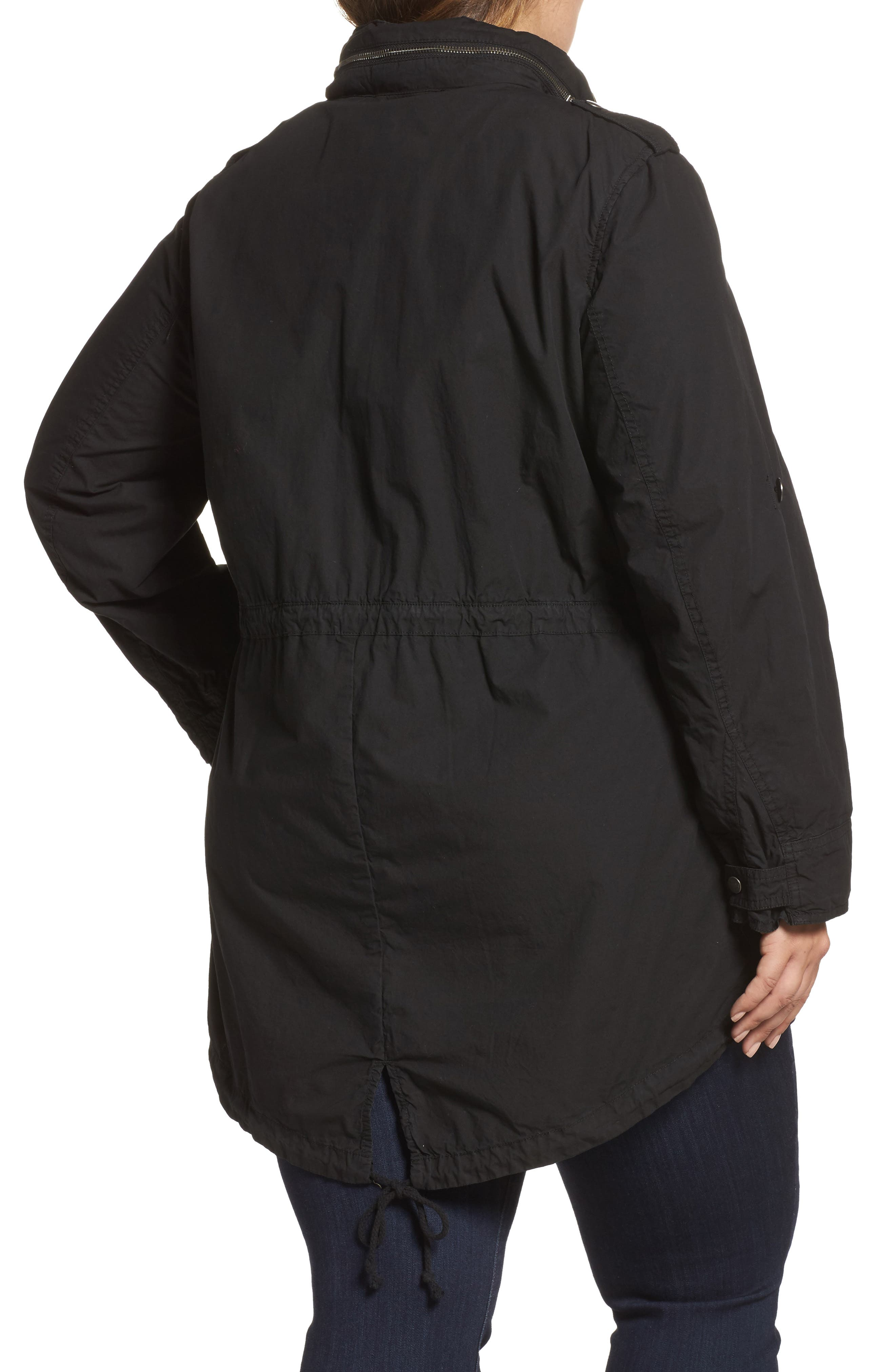 Alternate Image 2  - Levi's® Parachute Hooded Cotton Utility Jacket (Plus Size)
