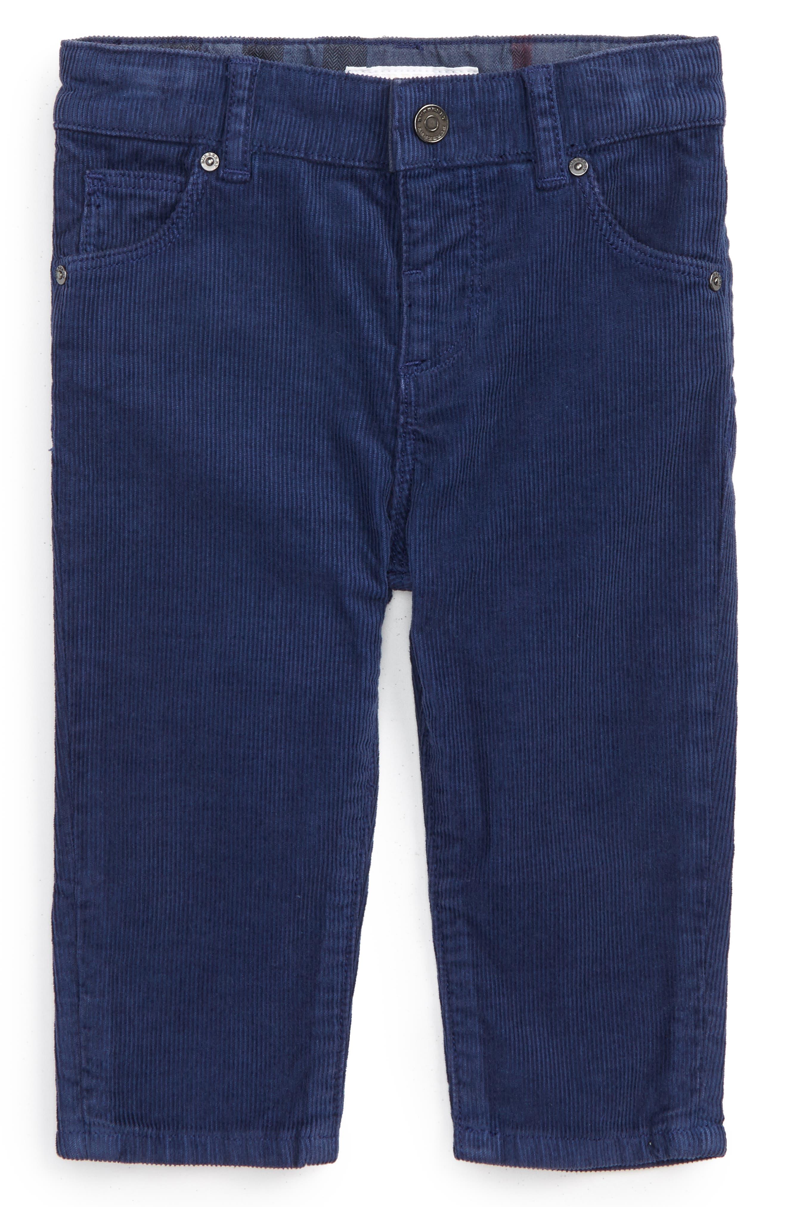 Langston Corduroy Skinny Pants,                         Main,                         color, Blue