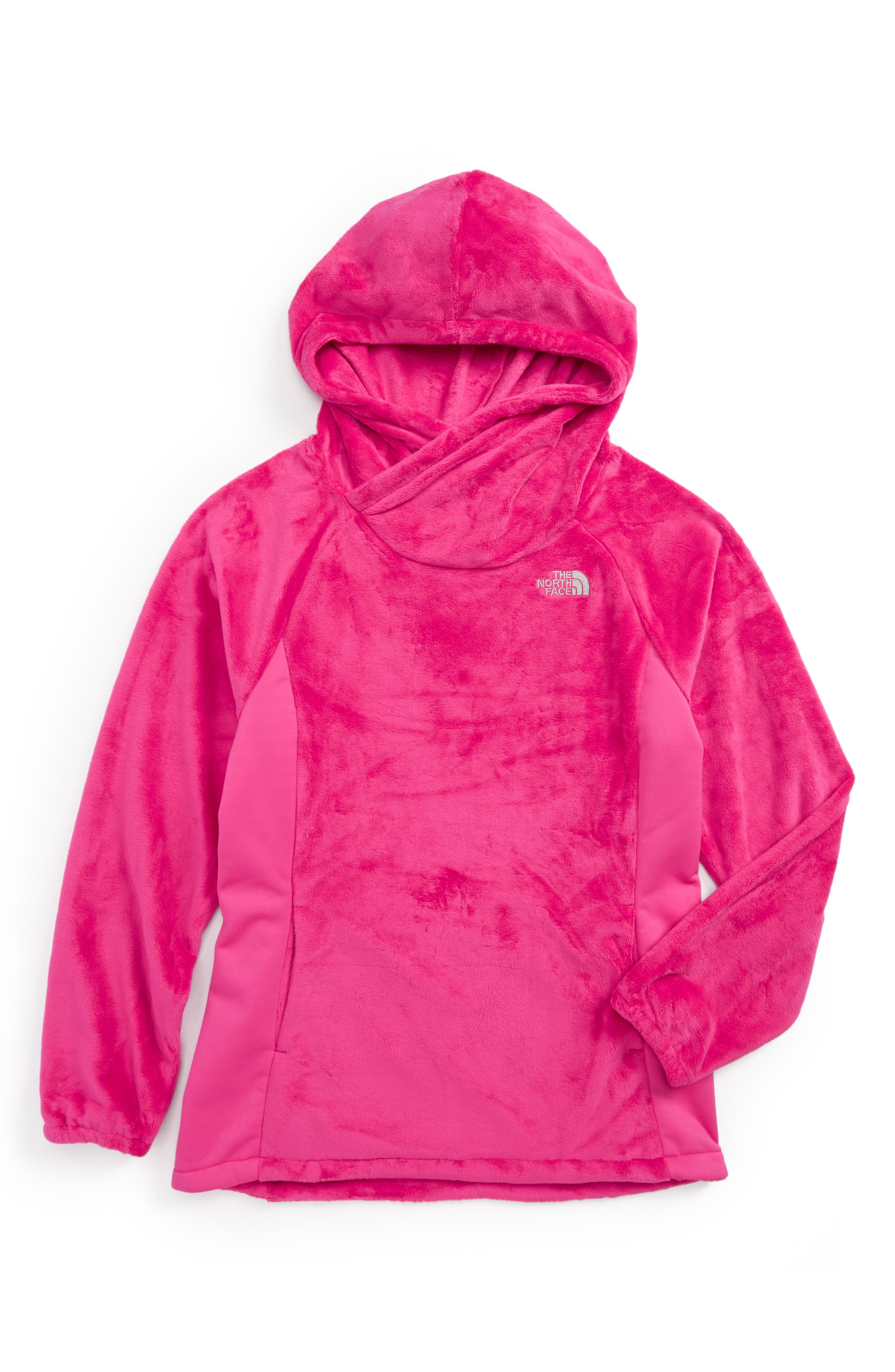 Oso Fleece Pullover,                             Main thumbnail 1, color,                             Petticoat Pink