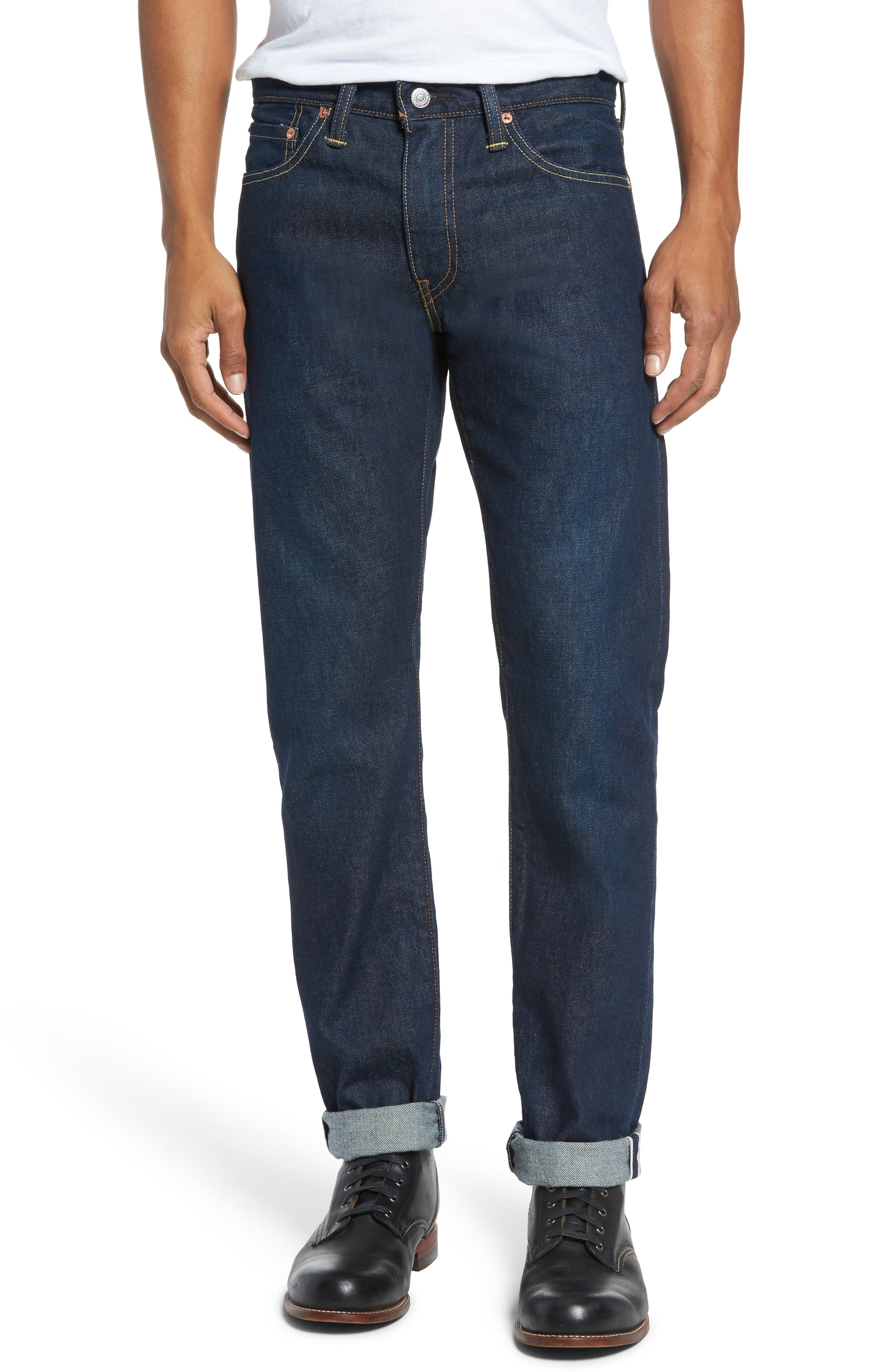 Alternate Image 1 Selected - Levi's® 511™ Slim Fit Jeans (Selvedge)
