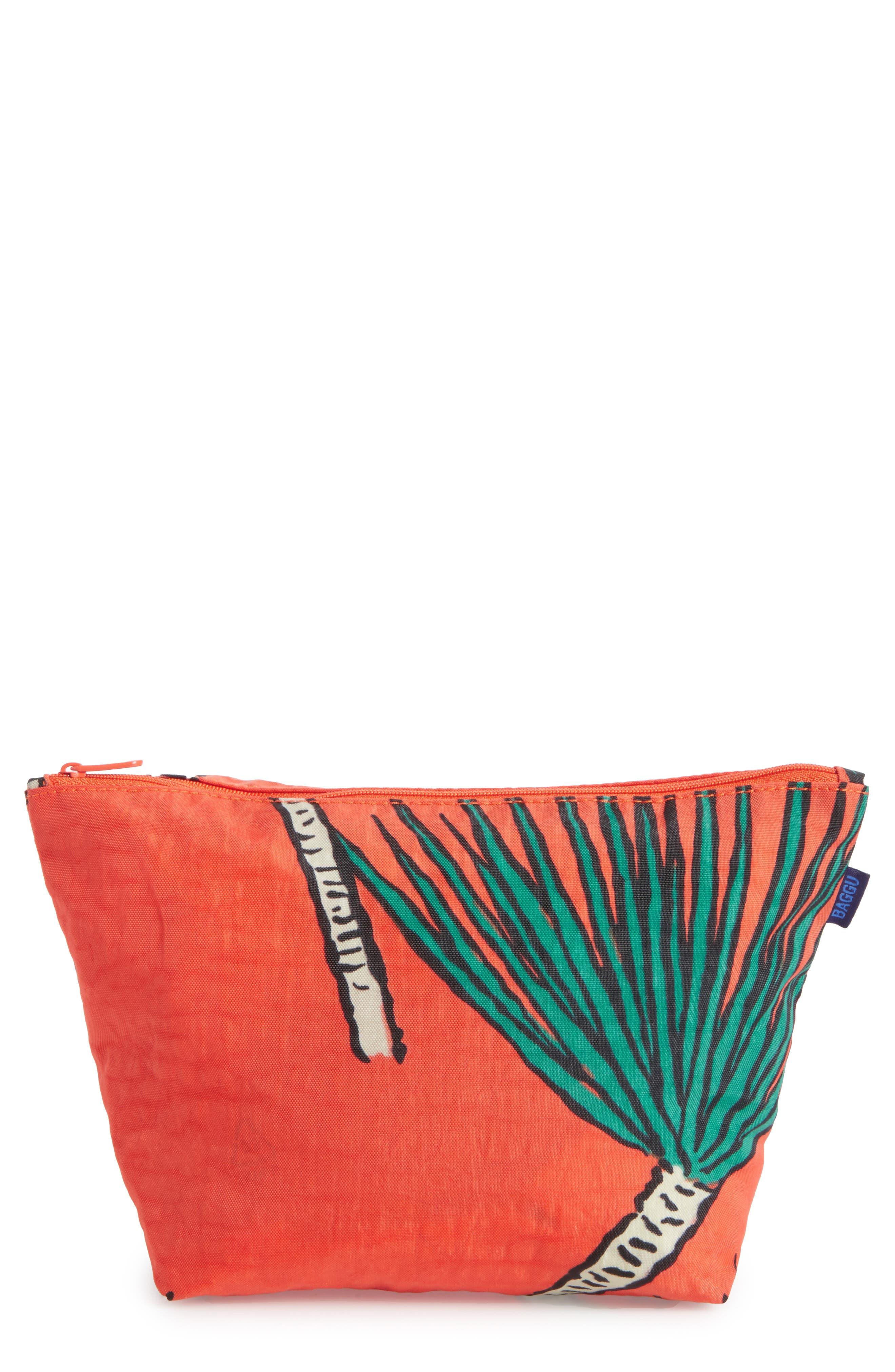 Medium Carry All Nylon Pouch,                             Main thumbnail 1, color,                             Dragon Tree