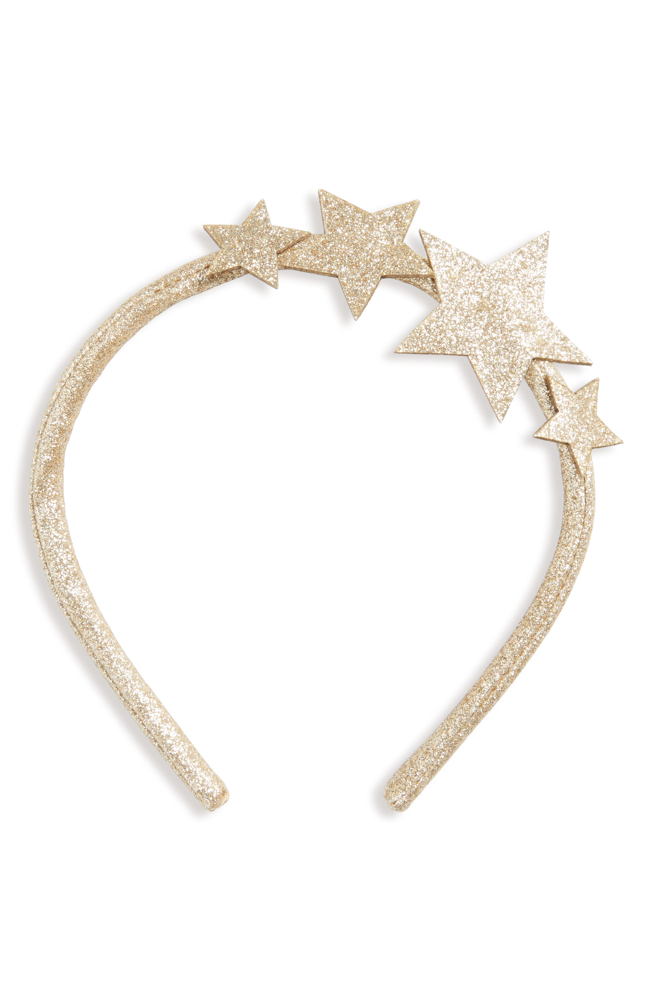 Wild and Gorgeous Glitter Star Headband,                         Main,                         color, Gold