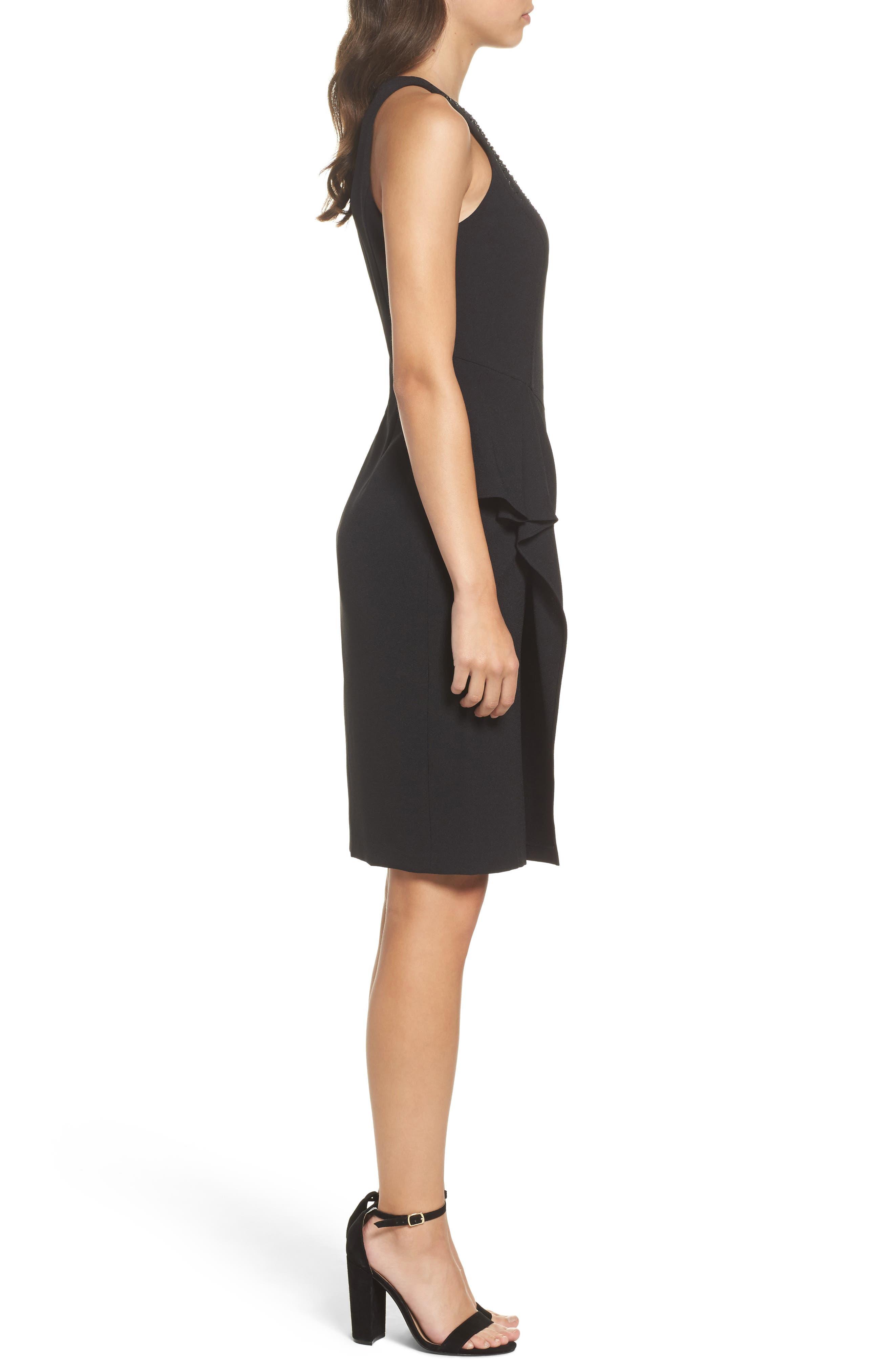 Alternate Image 3  - Eliza J Embellished Ruffle Sheath Dress