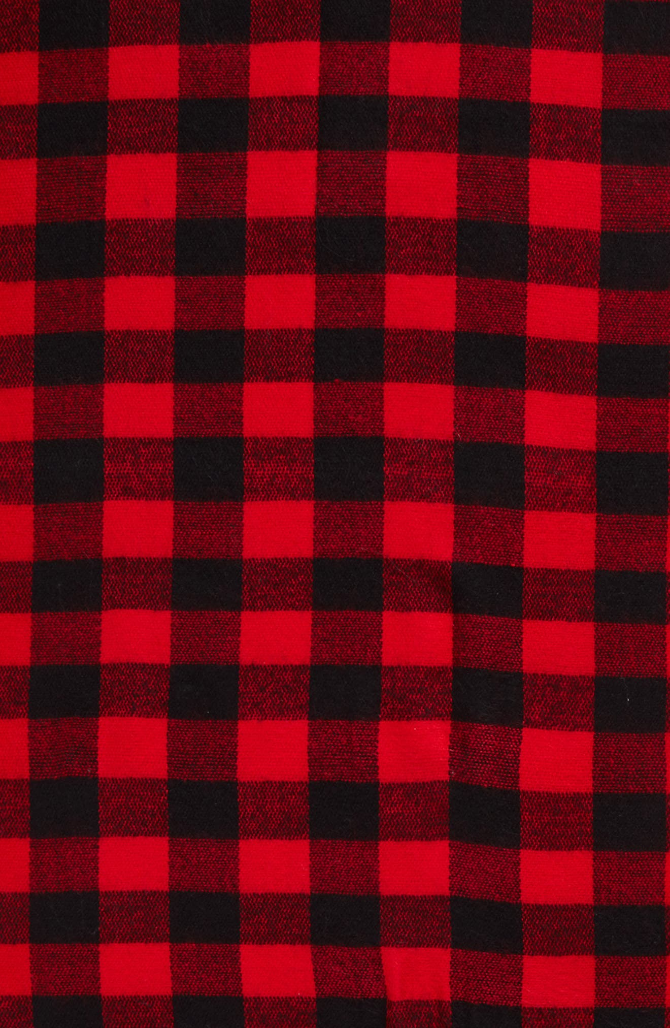 Buffalo Plaid Oblong Scarf,                             Alternate thumbnail 4, color,                             Black/ Red