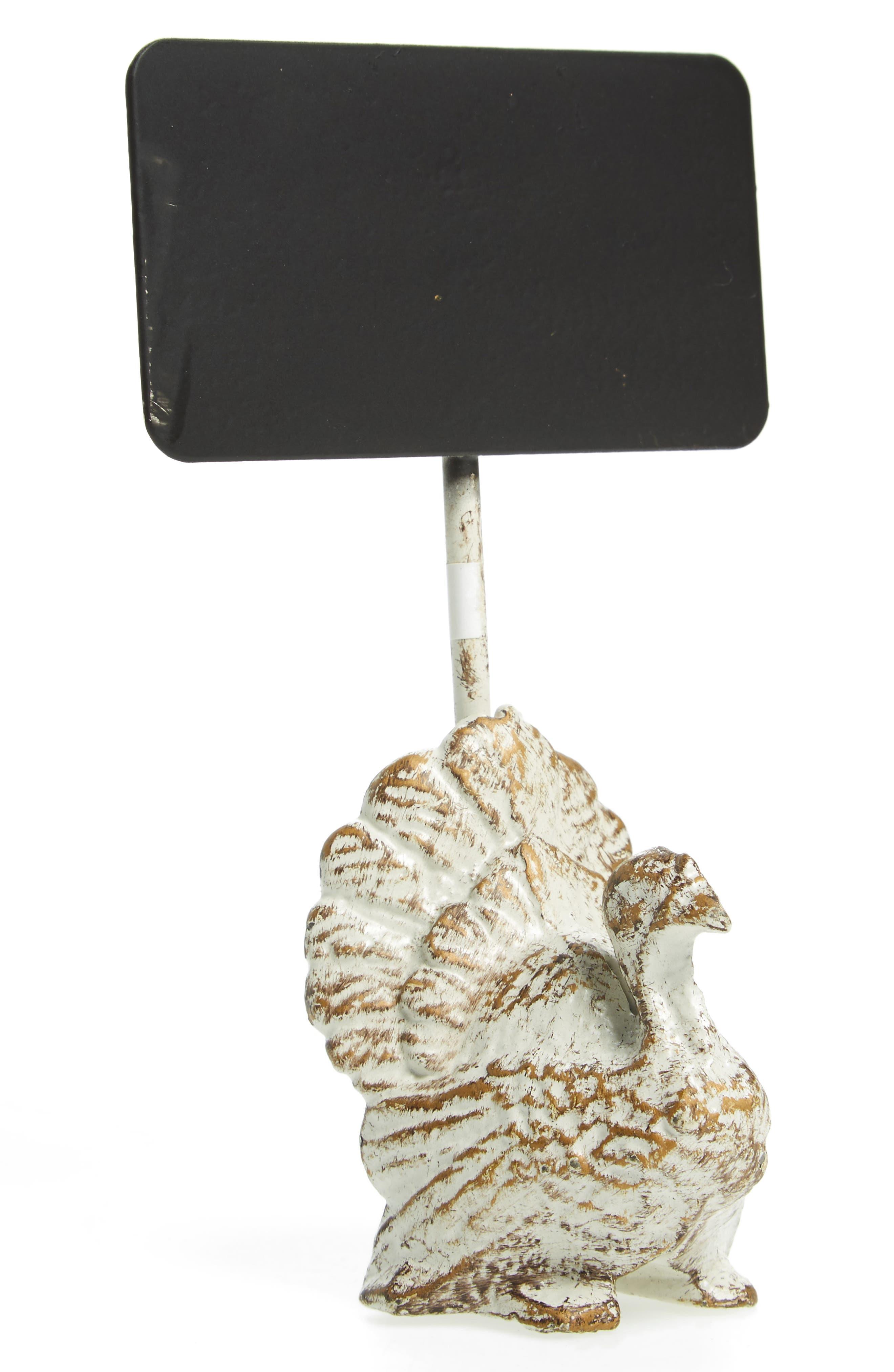 Turkey Chalkboard Namecard,                         Main,                         color, Beige/ Black